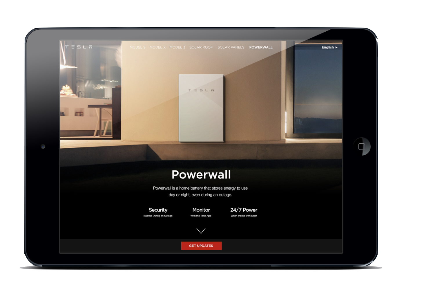 powerwall, at the LA auto show. - [copy: full kiosk experience for powerwall, solar roof, model s, model x, model 3]