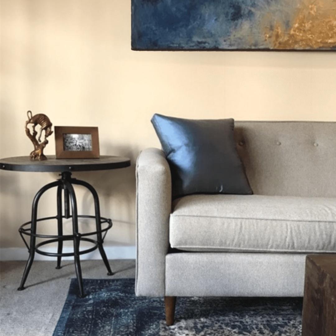 Bachelor pad living room