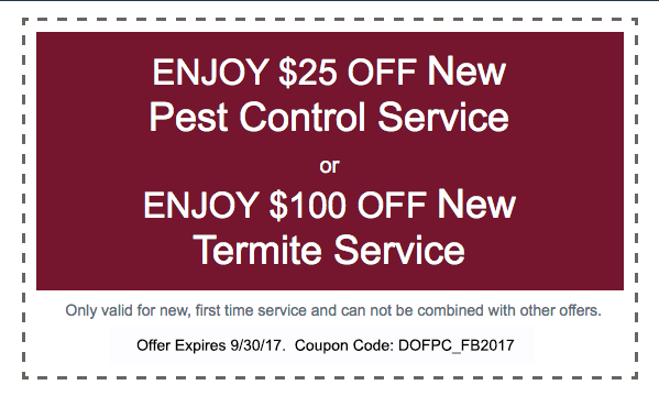 25 Off New Pest Control Service, 100 Off New Termite Service, Termites, Pest Control, Coupon