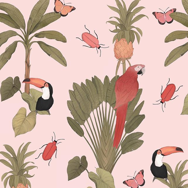 Dreamy jungle in process!! ❤️✨ • • • • • •  #surfacedesign #surfacepattern #textiledesign #printandpattern #patterndesign #textiles #textilepattern #patterns #pattern #moraisdrawing #bythelittleislandgirl #procreate #patternobserver #patternoftheday #womanwhodraw #wearepremierevision #surtex #patterndesign #patternbank #surfacedesigner #repeatpattern #ilustagram #patternity #thepatterncurator #girlboss #girlbosslife #surfacepatterncommunity #patterlicious #fridayillustration #botanicalillustration #procreateart