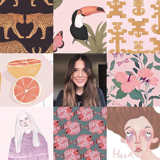 Holaa gente ❤️🍉 I woke up feeling like introducing myself... so, this is me and my art 😊✨#artvsartist2019 • • • • •  #surfacedesign #surfacepattern #textiledesign #printandpattern #patterndesign #textiles #textilepattern #patterns #pattern #moraisdrawing #bythelittleislandgirl #procreate #patternobserver #patternoftheday #womanwhodraw #wearepremierevision #surtex #patterndesign #patternbank #surfacedesigner #repeatpattern #ilustagram #patternity #thepatterncurator #girlboss #girlbosslife #surfacepatterncommunity #patterlicious #fridayillustration #botanicalillustration