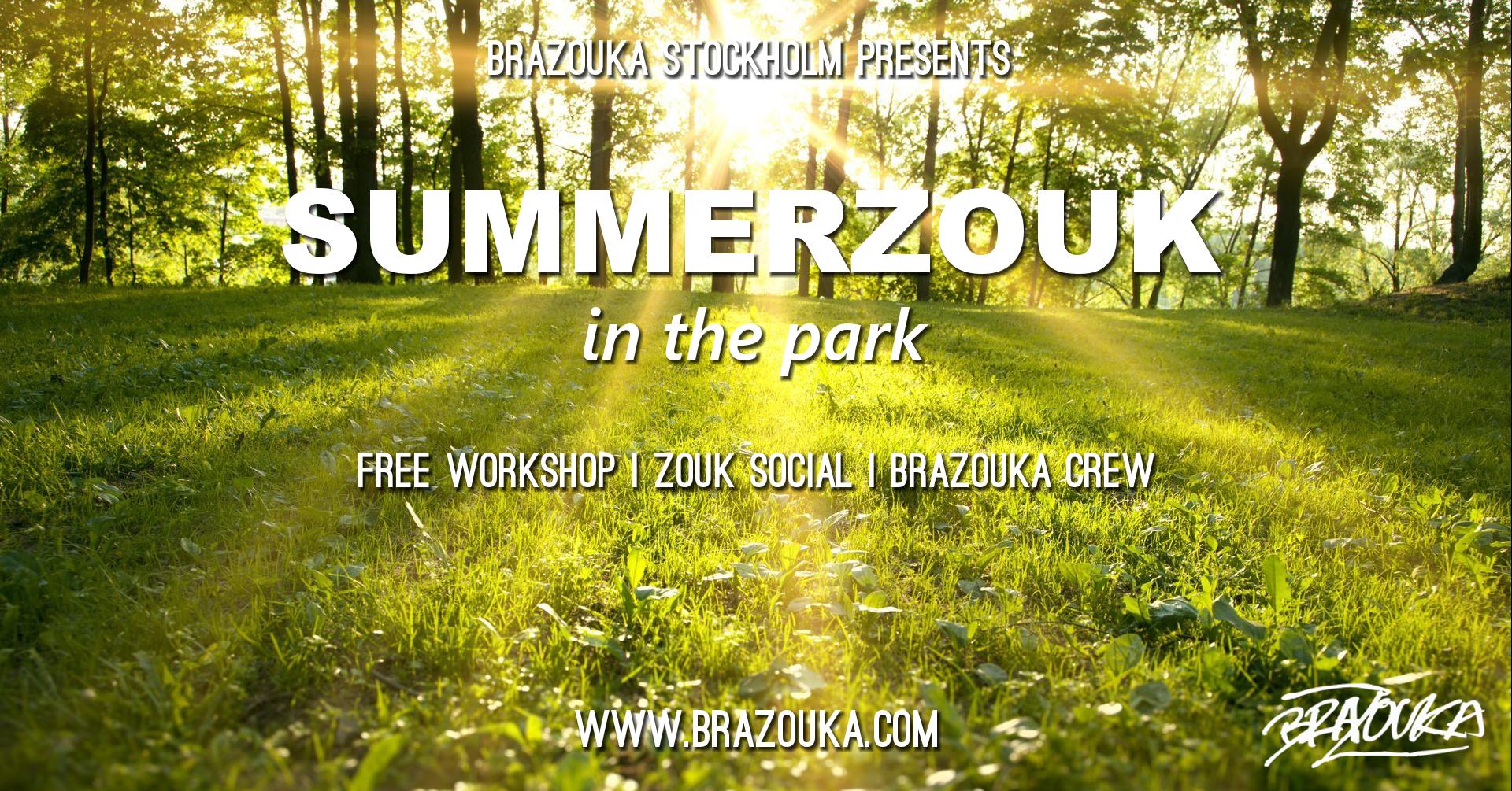 SCHEMA   17.00-17.45 - Workshop Nybörjare Brasiliansk Zouk 17.45-20.00 - Social dans Zouk/Lambazouk   PLATS : Dansbanan i Vasaparken  T-bana:  Odenplan