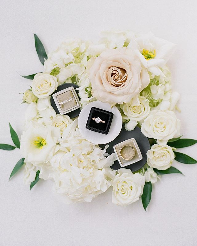 'Do these rings make us look... married?' 💍 Here's a little #flatlay gorgeousness to get you through this Thursday and into the weekend. We can't wait to share more from this beautiful day!  Planning and Design @aandlevents  Photography @laurenreneephoto  Cinematography @vowstovideo  Floral Bloomers  Catering @tallulahscatering  Rentals @alloccasionspartyrental  Linens @partymosaic  Venue @thepennsylvanian  DJ @moderneraweddings  Invitations @invitationsplus  Beauty @beautyjustifiedbyjustine  Signage @ohjoyfulday  Cake @oakmontbakery  Vintage Pieces @vintagealleyrentalspgh  Transportation Elite Coach