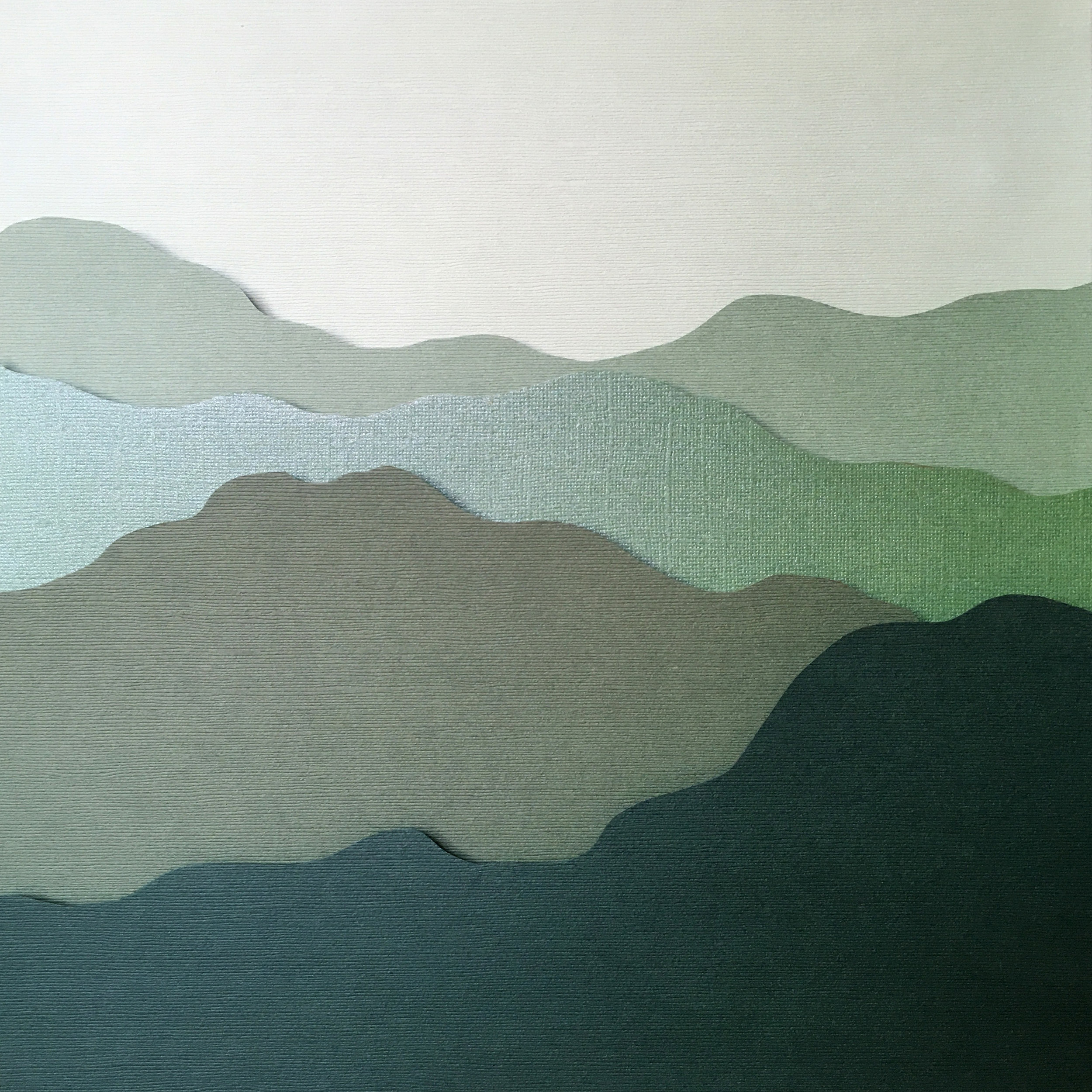 12 x 12   cut paper in metal frame   sold
