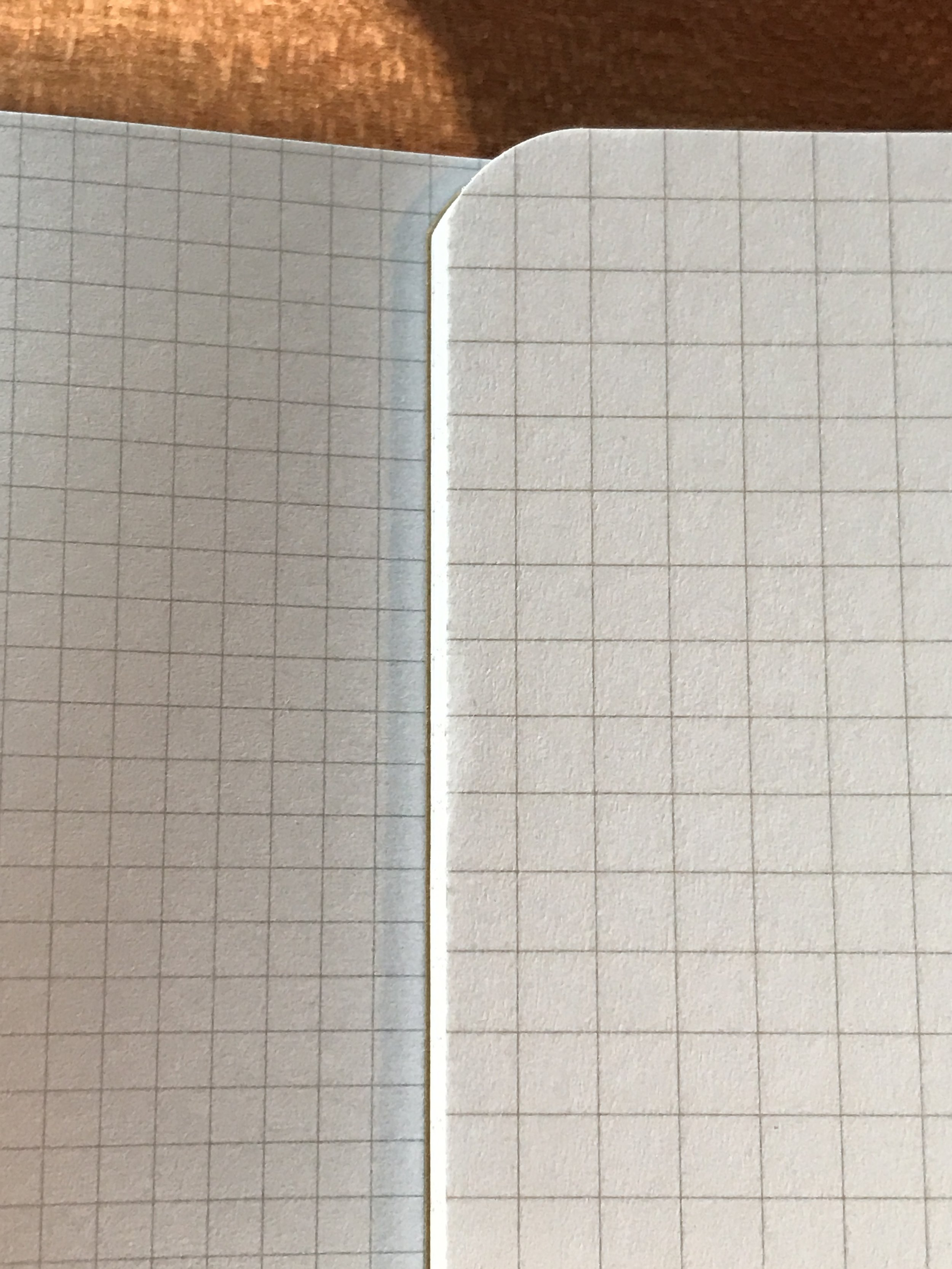 Write Notepads Graph (left) vs. Field Notes Graph (right)
