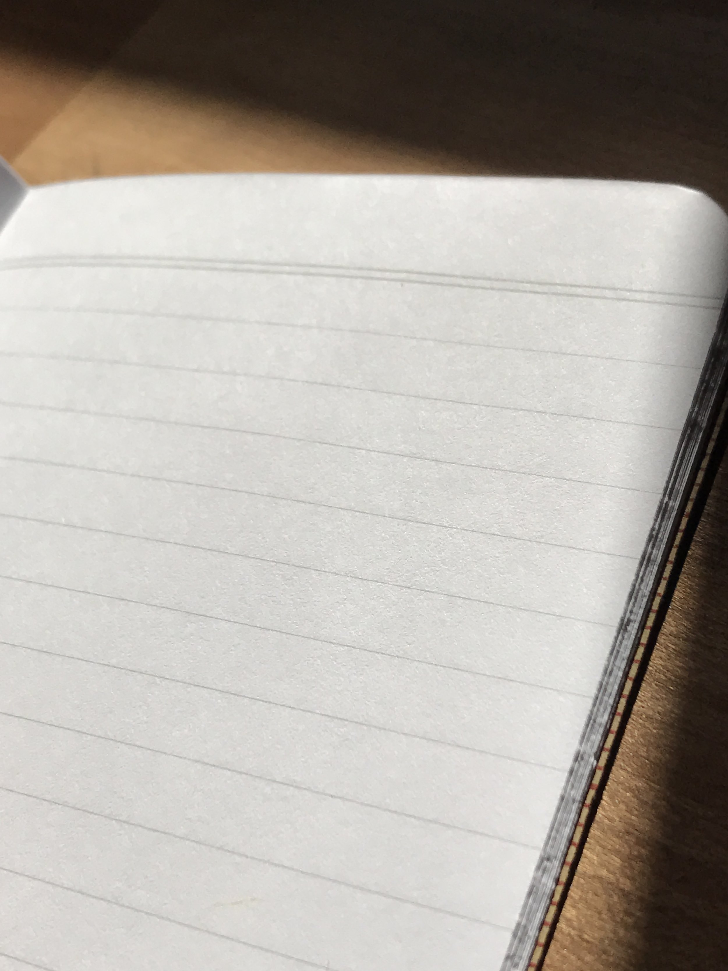 Lined paper!