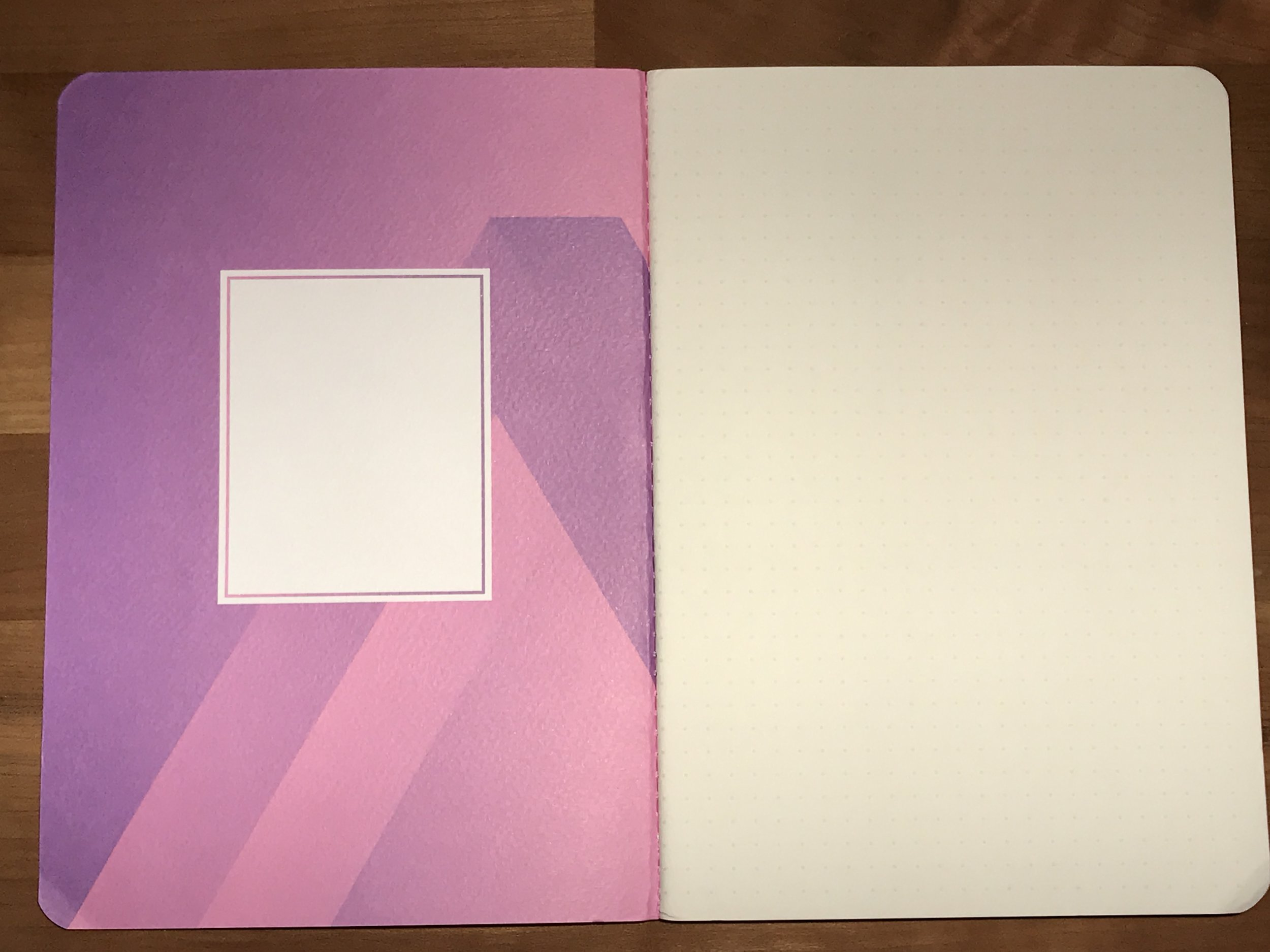 Inside covers are a play on the outer design.