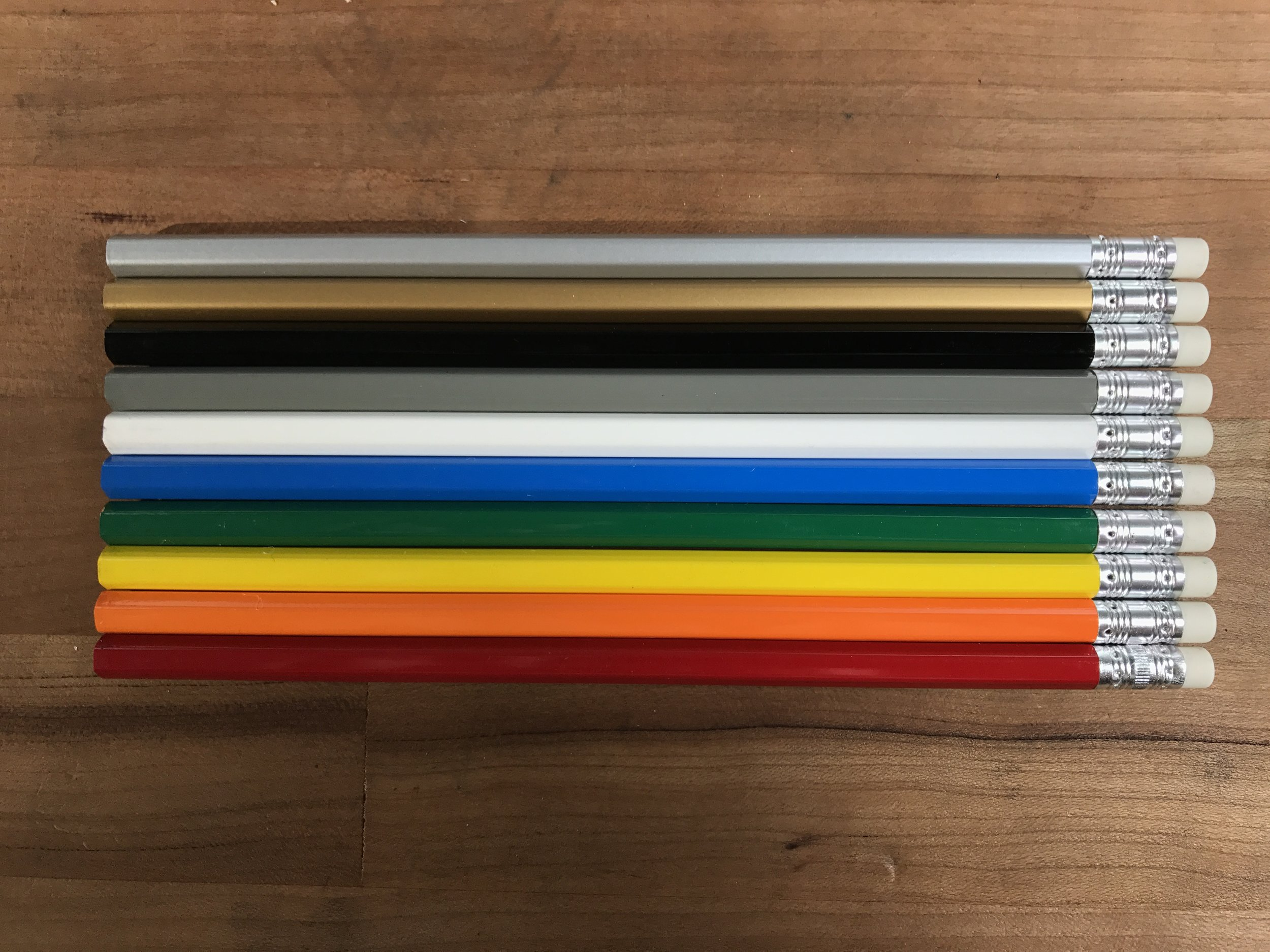 All colors of the primary rainbow.