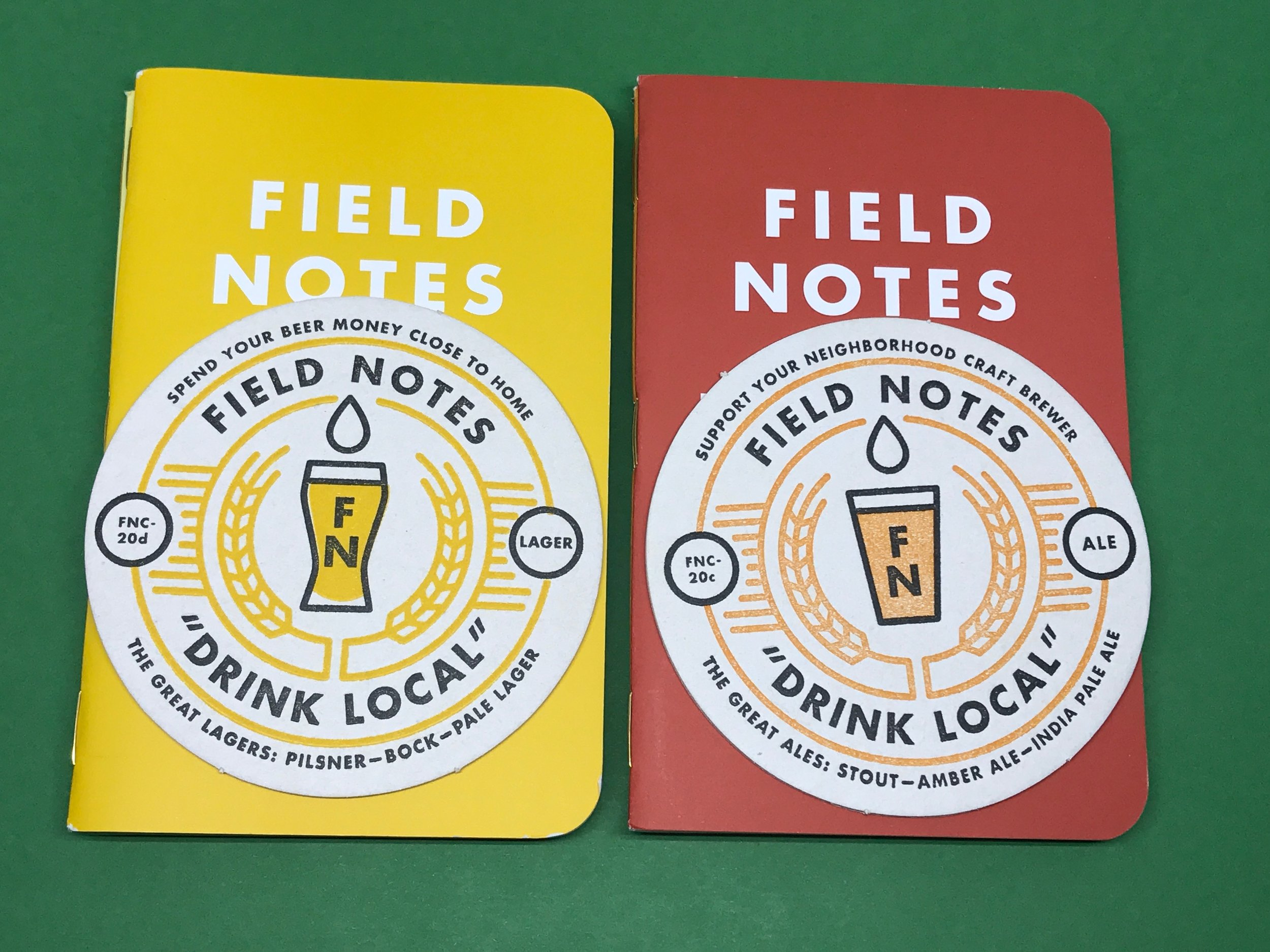 Field Notes Drink Local.