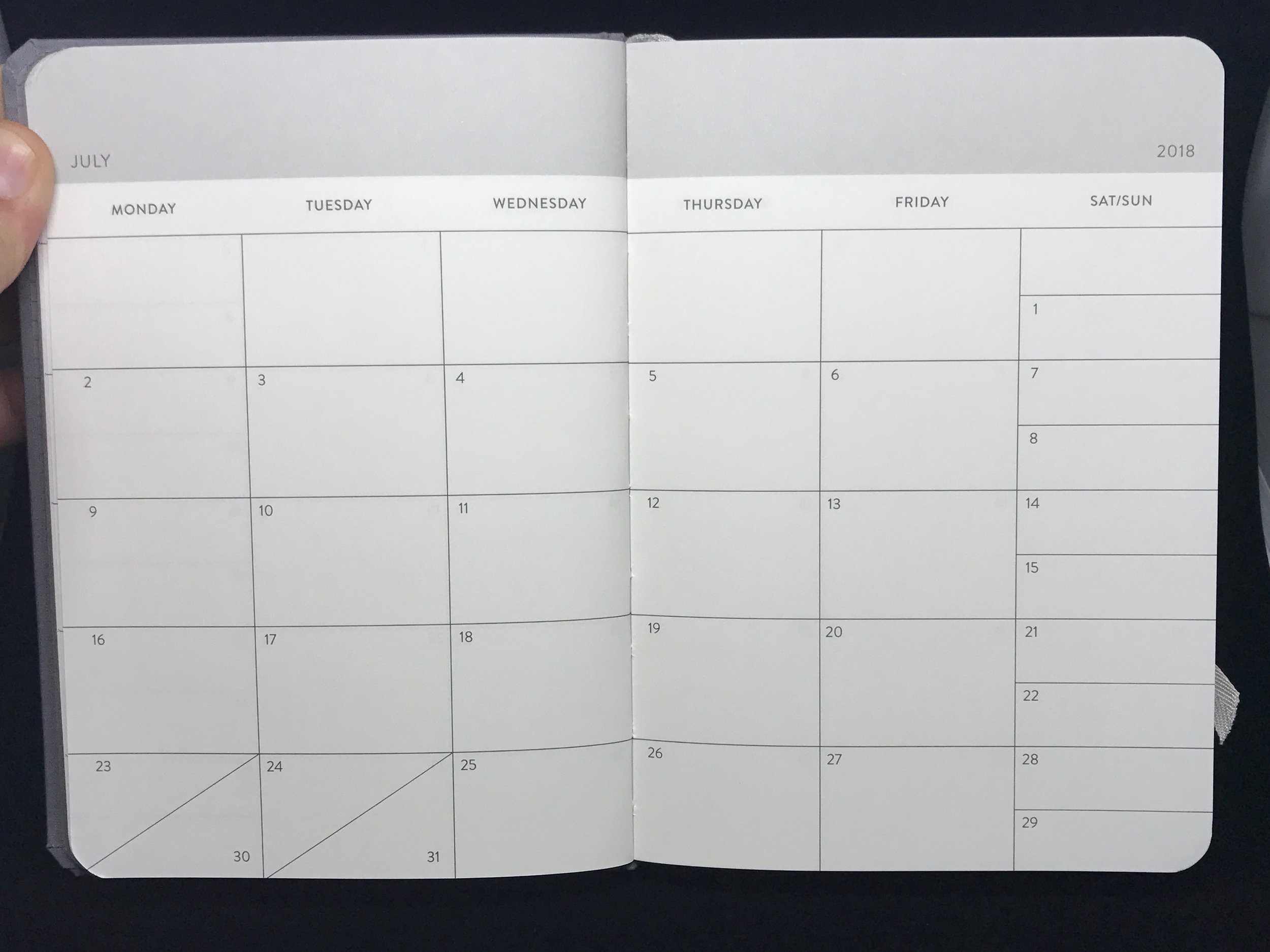 Monthly spread.