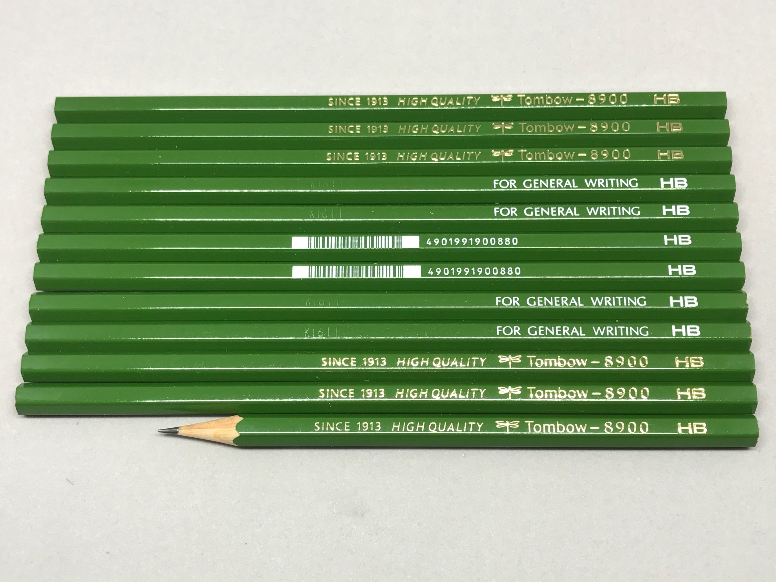 Tombow 8900 Pencil Set of 12 Japanese Pencil H Japanese Stationery