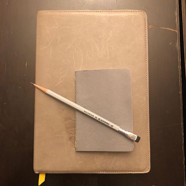 3 shades of gray. Brought to you by @baronfig and @blackwing. #stationery #pencil
