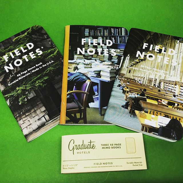 The National Parks Series is getting all the love right now, but these beauties are pretty damn cool too! @fieldnotesbrand @graduatehotels #stationery #fieldnotes