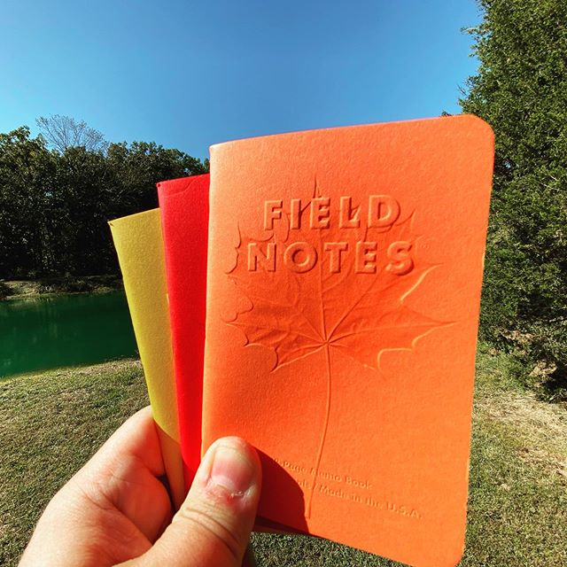 Took these three camping this weekend. . . . #fieldnotes #stationery #pocketnotebook