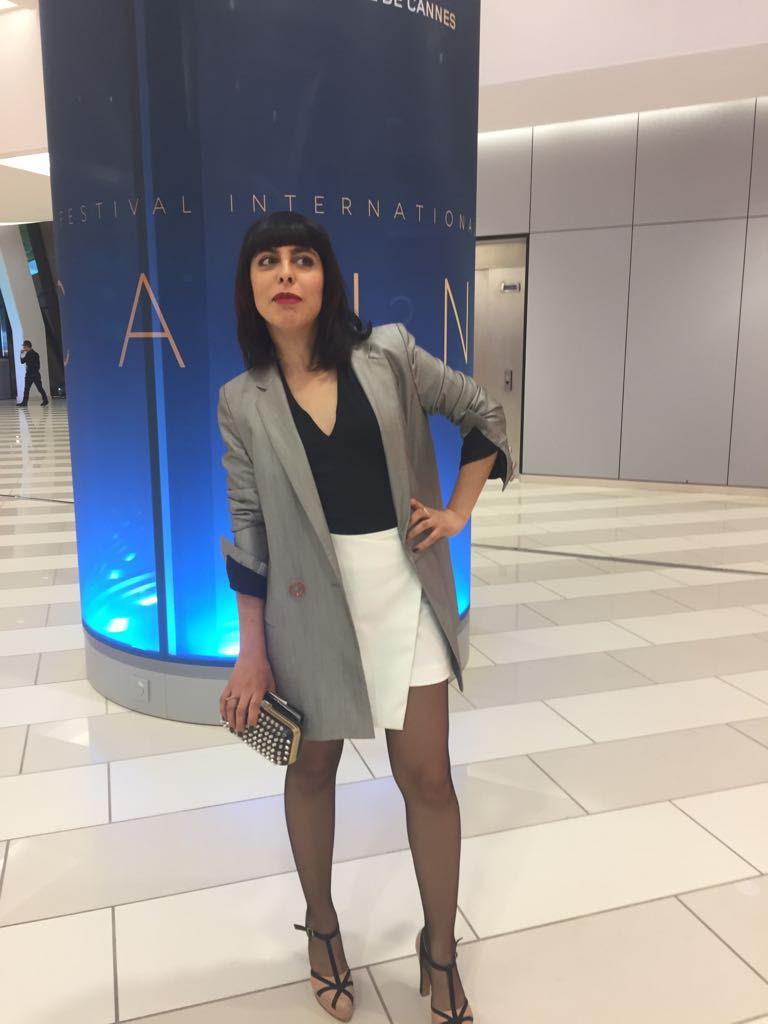 Singer Carmen Maria Vega - spotted! with the Eva Jacket
