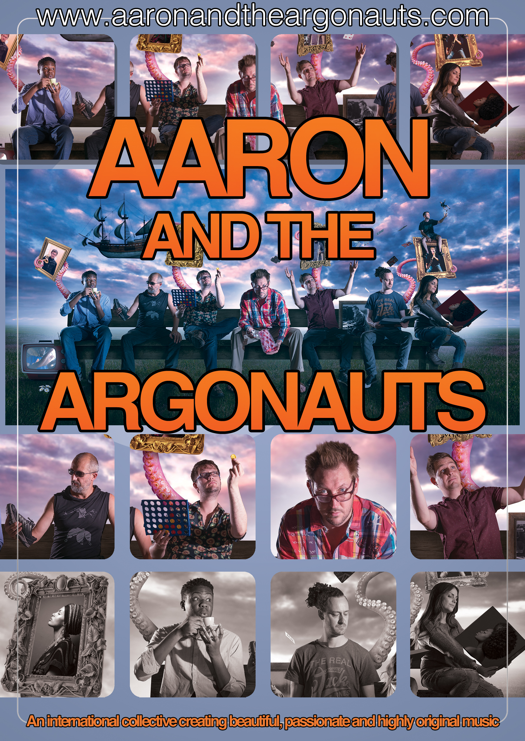 - Originally a garage band duo, Aaron and The Argonauts met at Covent Garden Opera House while performing in Carlos Acosta's Cubania. They grew into a multinational collective of master musicians and singers, led by former Amy Winehouse sax player Aaron Liddard. Aaron has also performed with the likes of Prince, Maceo Parker and the Boomtown Rats with Bob Geldof.The Argonauts fuse classic jazz funk sensibilities with twists of electronica and Cuban, Brazilian and Jamaican traditions. The six piece band are an international collective of musicians from the U.K., Cuba, Brazil, Switzerland, Italy & Germany. Together they create beautiful, passionate and highly original music, with ear-worm melodies and dance friendly rhythms. Expect Jazz, Bossa Nova, Funk, Alt Rock, Gospel and Drum 'n' Bass. Quality Nourishment for Your Mind Soul and Spirit!Along with Aaron, the band comprises Giulia Joni Marelli (vocals), Jimmy Norton (drums), Eric Young (percussion), Filipe Monteiro (guitar) and Paul Michael (bass and keyboards). The band are very often joined by special guests including Cuban violinist Omar Puente (Courtney Pine), Yelfris Valdés on trumpet (Buena Vista Social Club), Tom White on trombone (Kylie Minogue), also on trumpet Sid Gauld (Incognito), guitarist Dave Ital (Chaka Khan) and guest vocalists Miss Baby Sol and Decosta Boyce, both of who are artists in their own right and have performed alongside artists such as Paloma Faith, Redlight, Rebecca Ferguson, Florence and The Machine and The Noisettes.