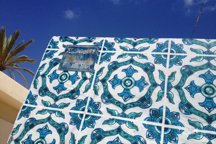 In Djerba, Tusinia for  Djerbahood  (a project by  Galerie Itinerrance ).