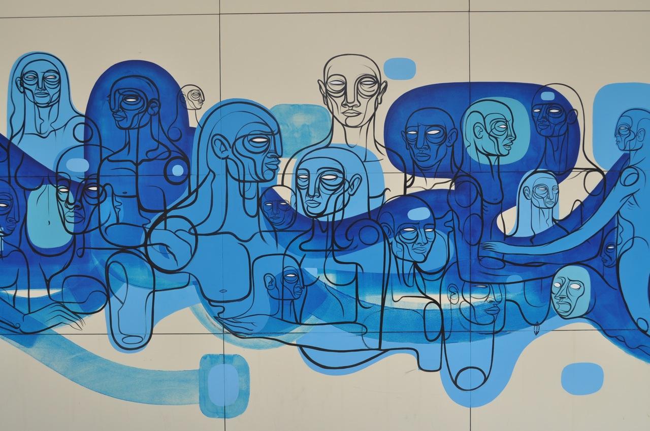 Doze Green   Crossroad of Humanity , 2009  Mural  Las Vegas City Center; Jonathan Levine Gallery