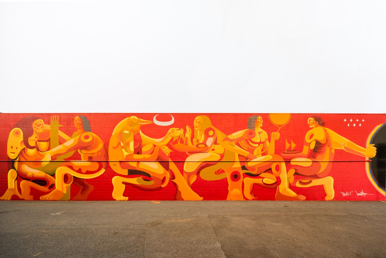 Doze Green   Arrested Motion , 2015 Mural 1xRUN and POW! WOW! Hawai'i