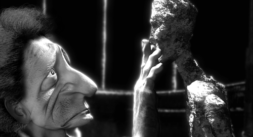 Alberto Giacometti and the walking man,Eternal Gaze frame