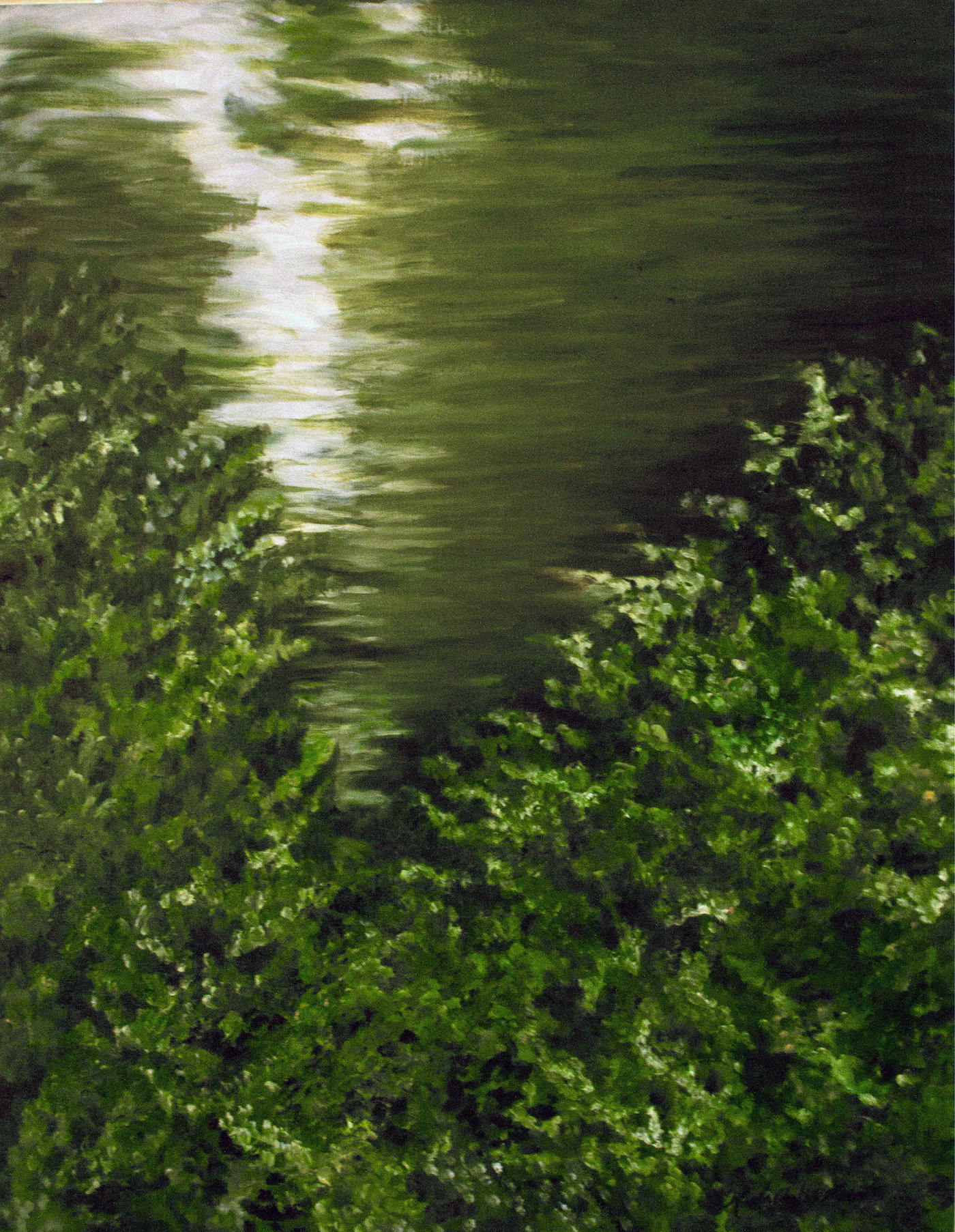 "From the series Paisajes, ""En el lago!"", oil on linen, 102 X 90 cm., 2009."