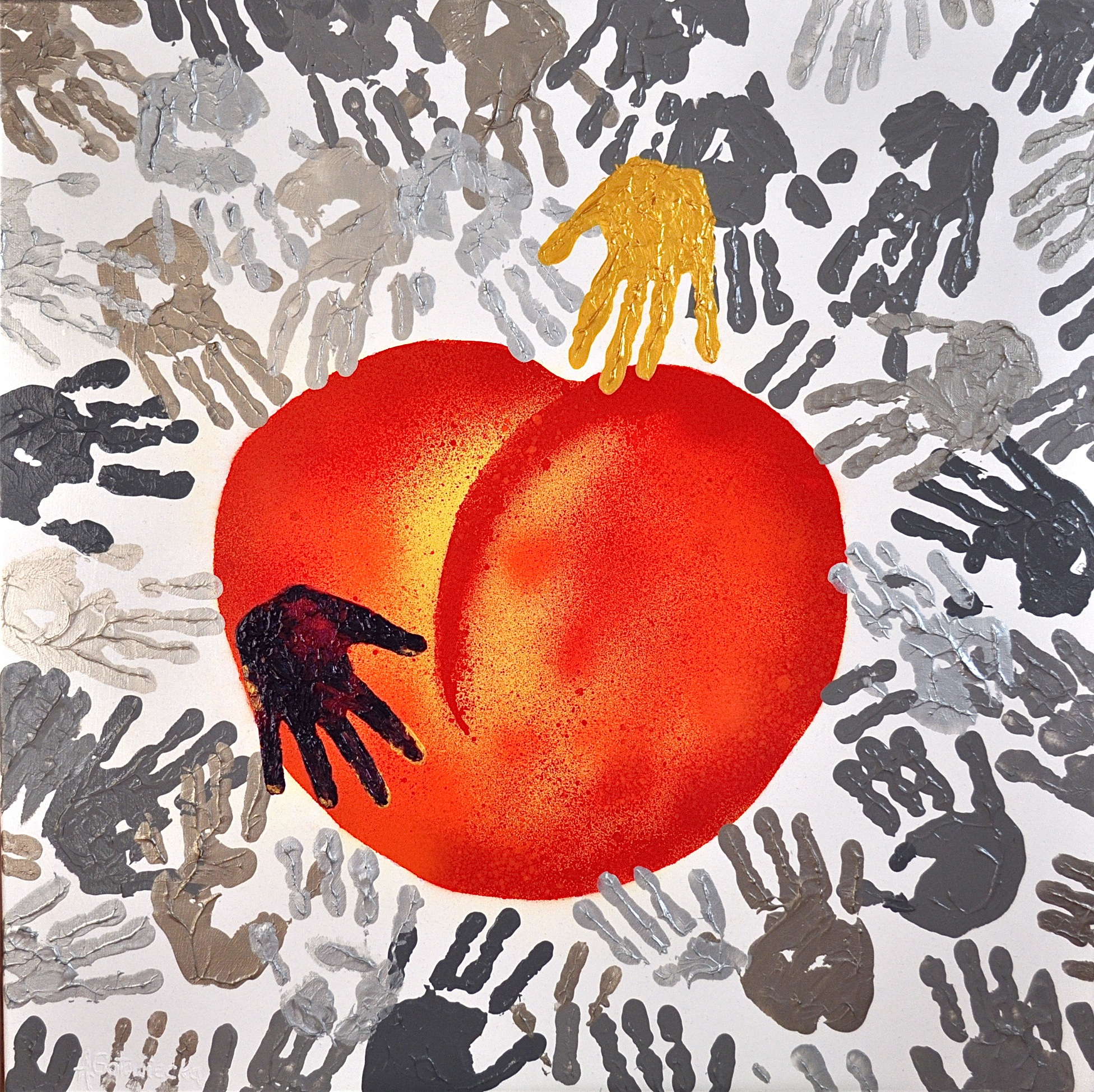 LIFE IS A PEACH  80x80cm-2014.JPG