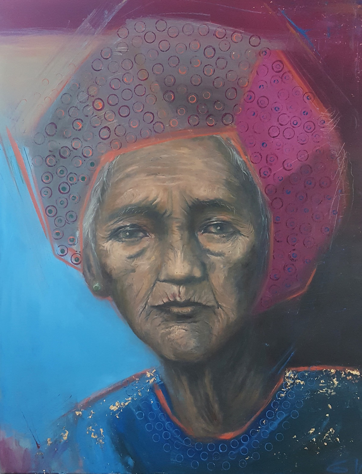 Celebreting life. Oils & acrylics on canvas 59 x 76cm.jpg