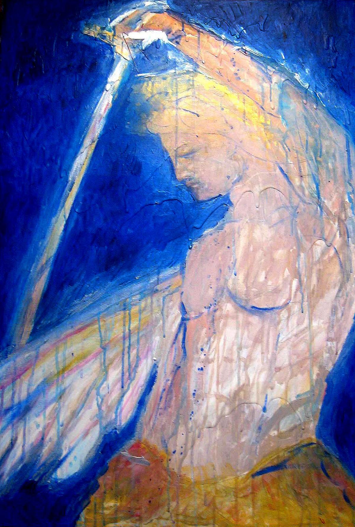 """Archangel Michael"" Acrylic on Canvas 24""x36"""