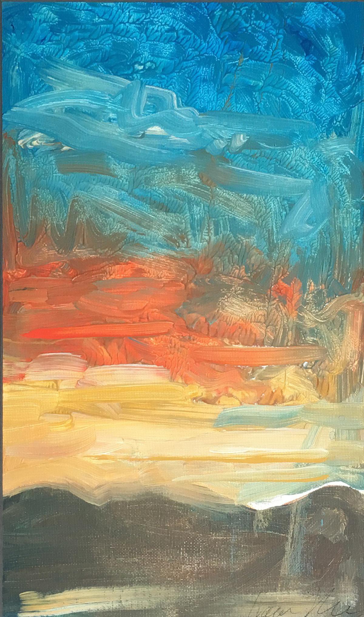 """Bura"" Acrylic on Canvas 8.5""x15"""