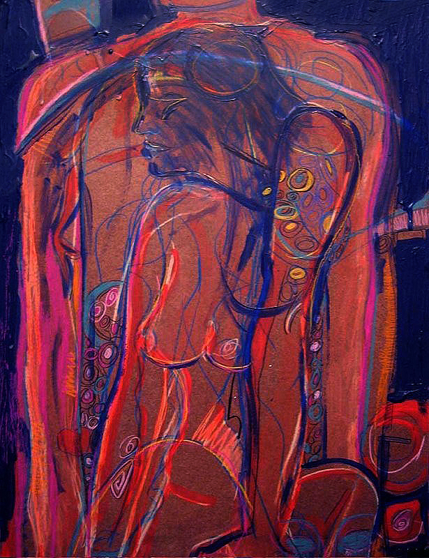 """""""In Front"""" Acrylic on Wood Panel 24""""x36"""""""
