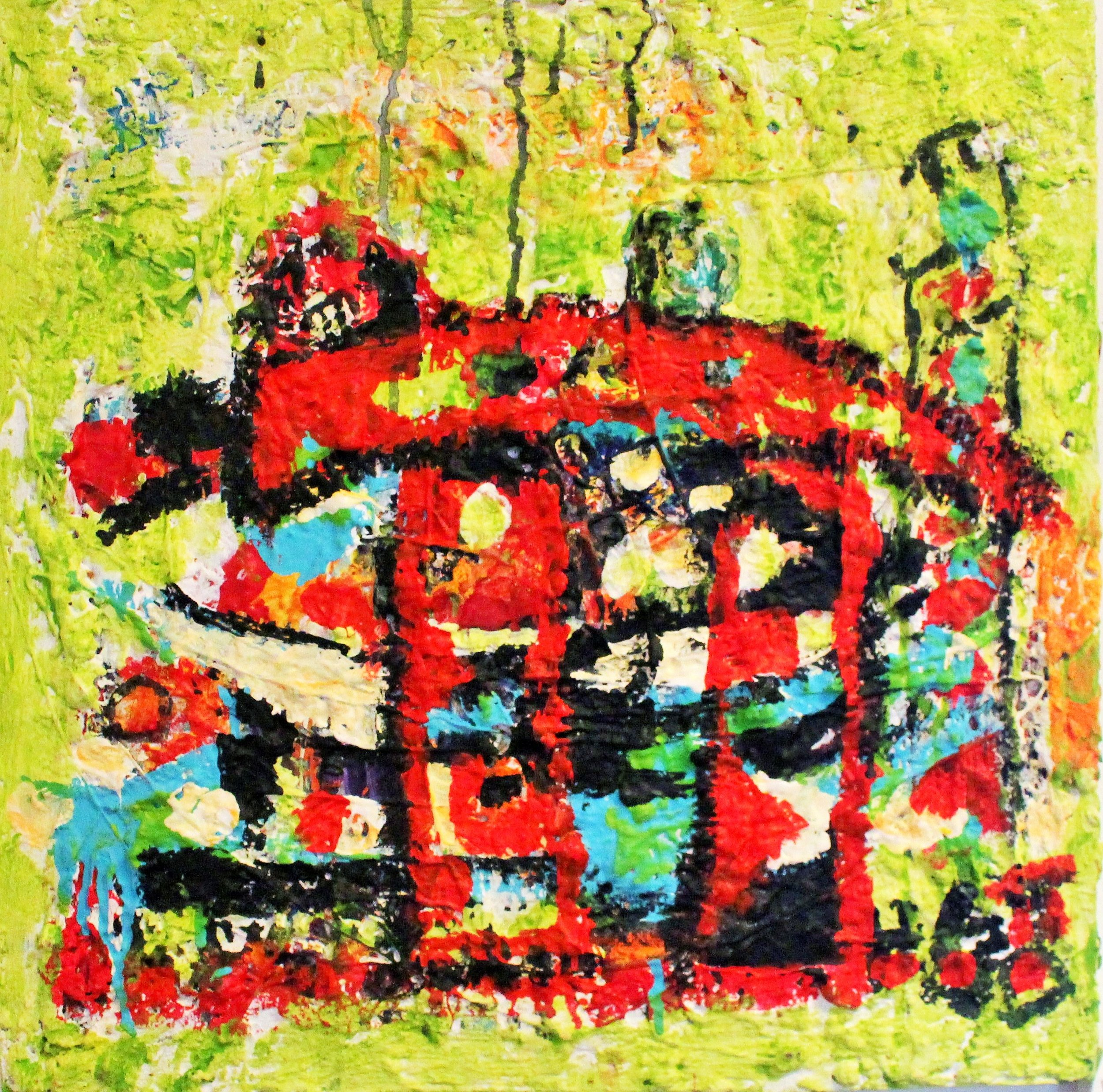 LOVE SHOWED UP IN THE GREEN LIGHT 50 X 50 CM Hilde Gustava.JPG