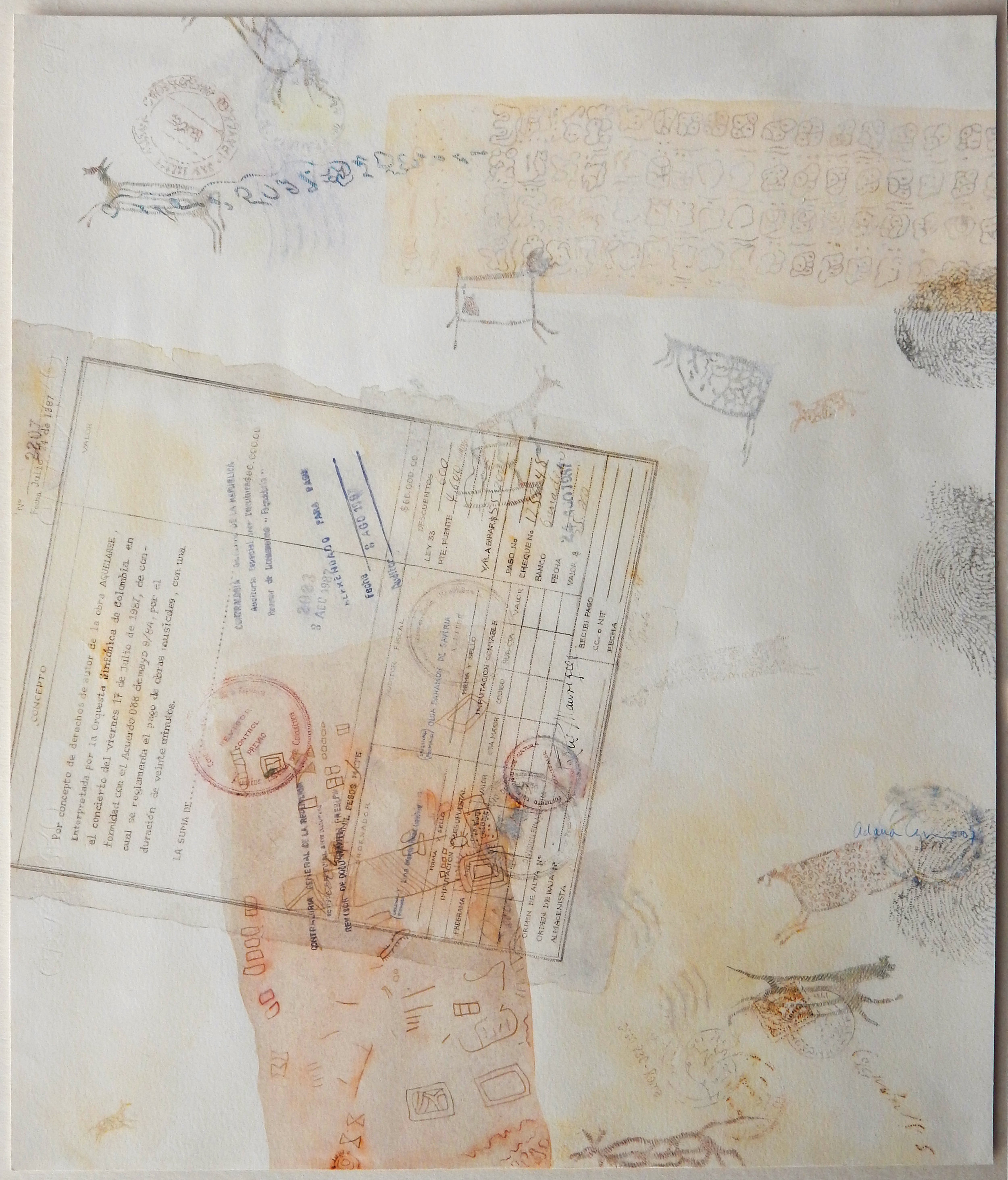 Copyright 2007, Graphite, watercolor, pen and ink, colored pencils on paper, 22.8 x 18.8 inches, (58 x 47.7 cm)