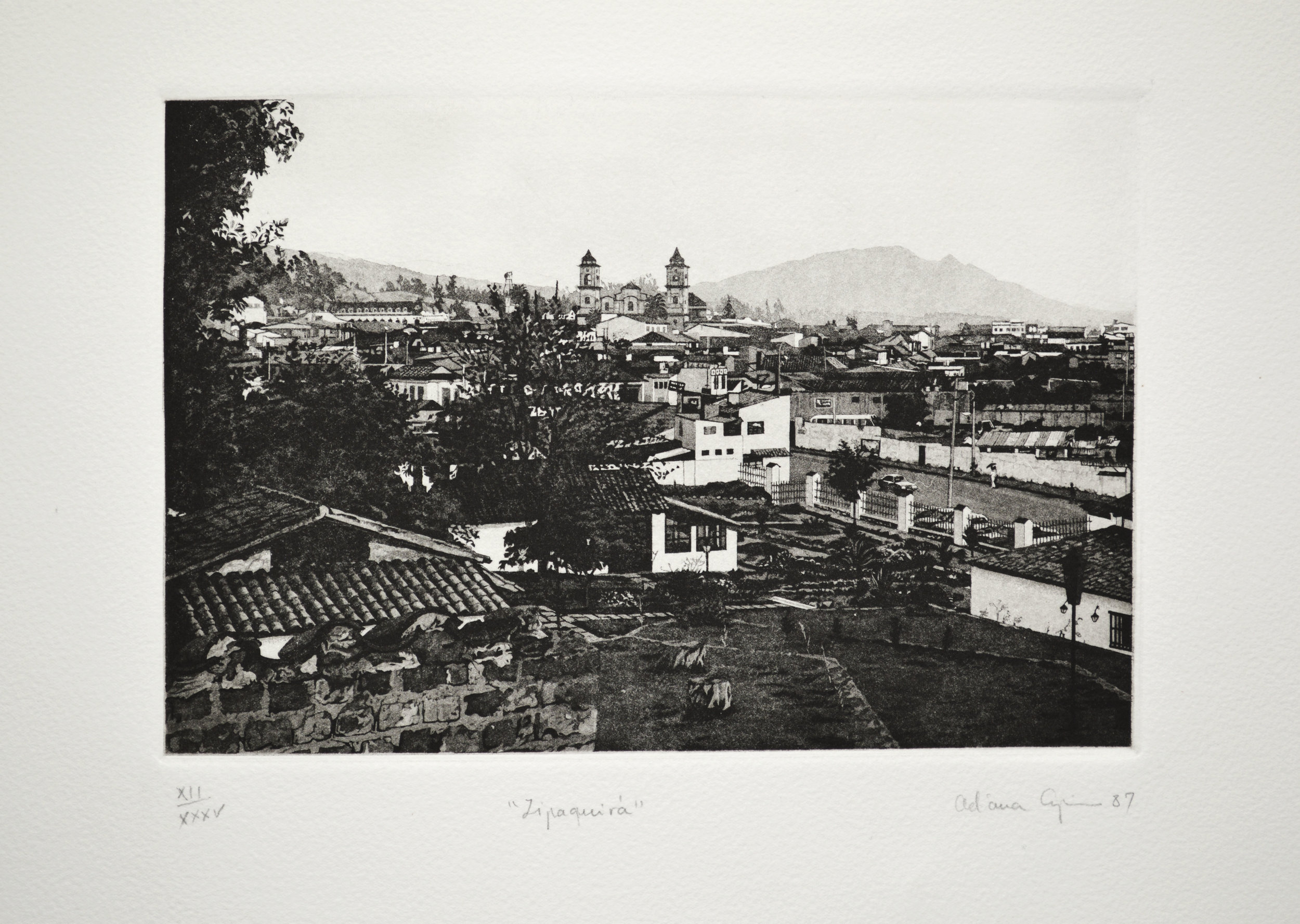 Zipaquirá, 1987, metal engraving – aquatint, Plate 6,7 x 9,44, (17 x 24 cm)