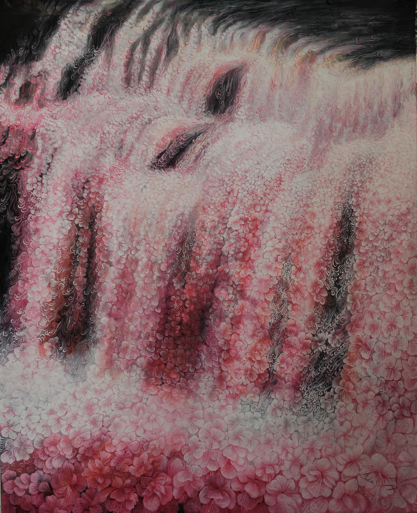 Lida sherafatmand, Waterfall of the Soul, oil on canvas,155 x 122 cm, 2016-s.jpg