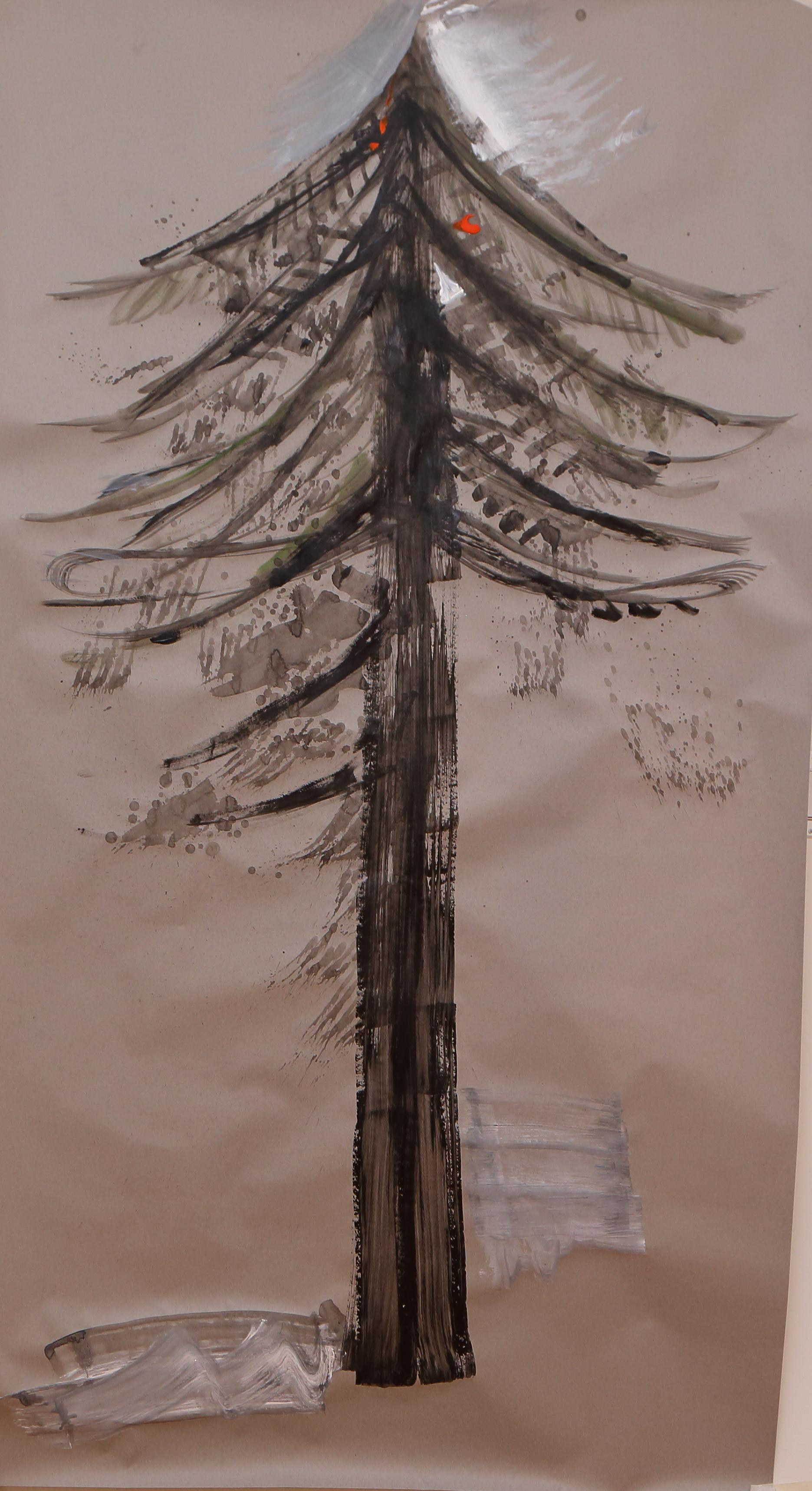 Season Tree Day VI Acrylic on paper 72X44 in.JPG
