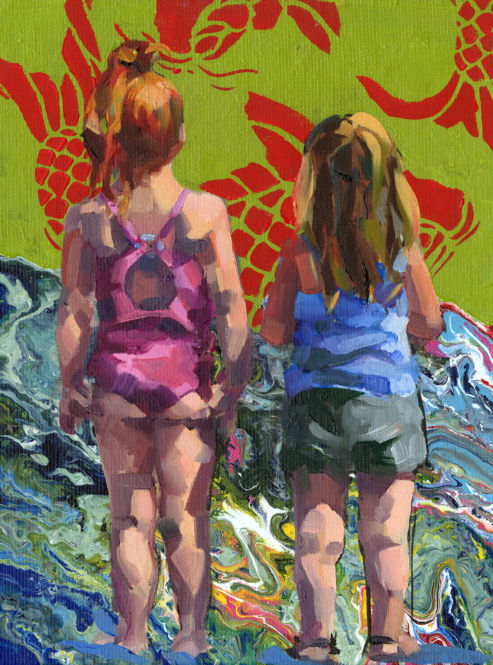 beach sisters with fish.jpg