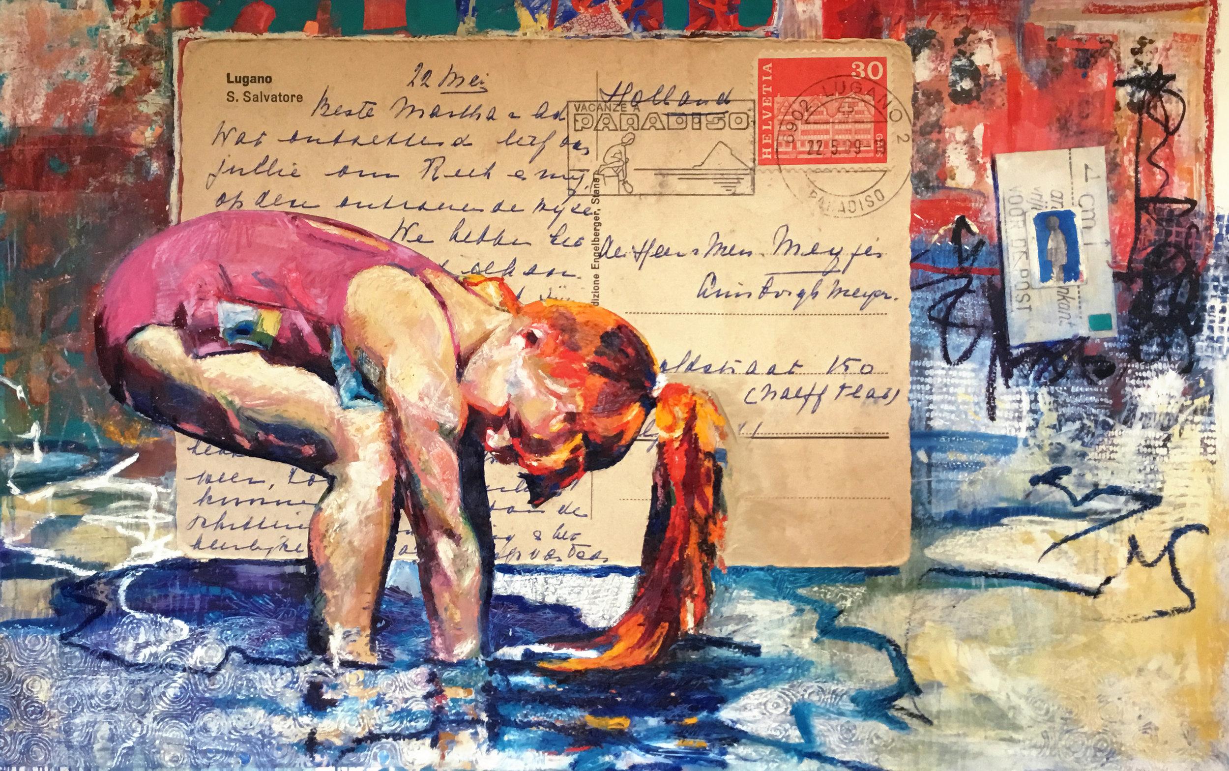 Pink in Blue Water Postcard Girl.jpg