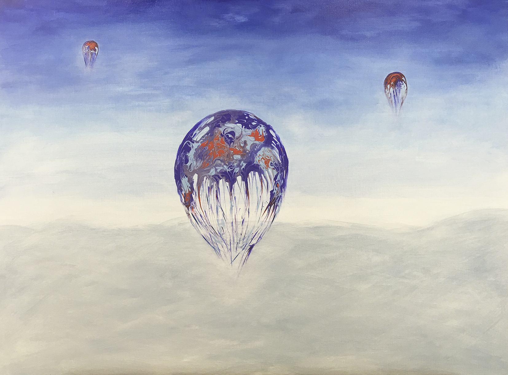 Painting %22Fly in the light%22 80x60cm Christine Marie Nobre Mixed Medias.jpg