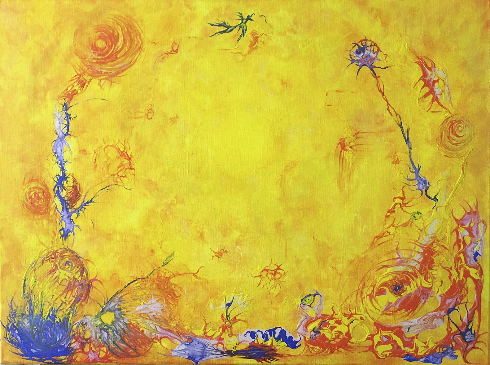 Painting %22Radiance%22 80x60cm Christine Marie Nobre Mixed Medias.jpg