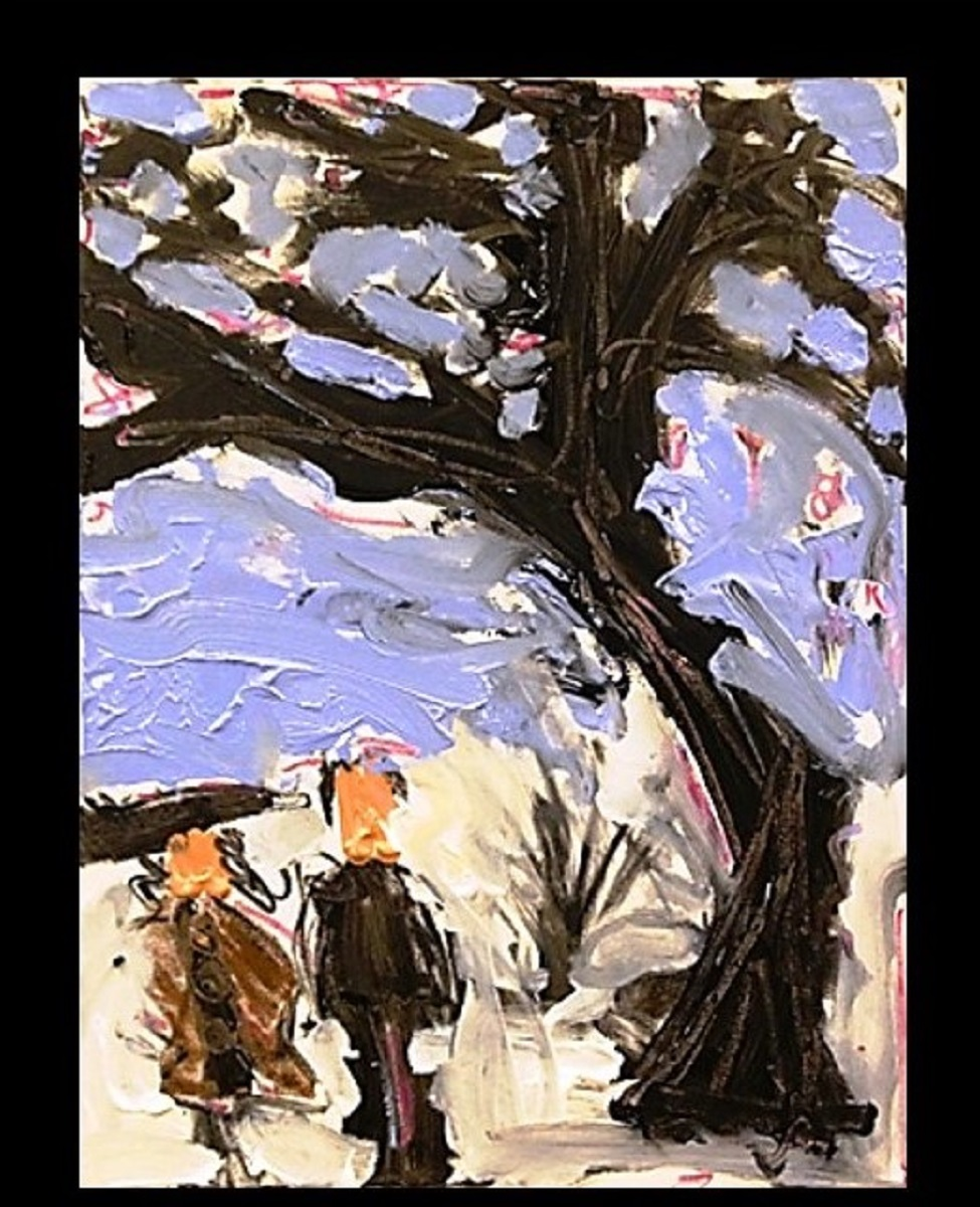 Krasner and Pollock acrylic oil oil pastels on canvas 24x18in.jpg