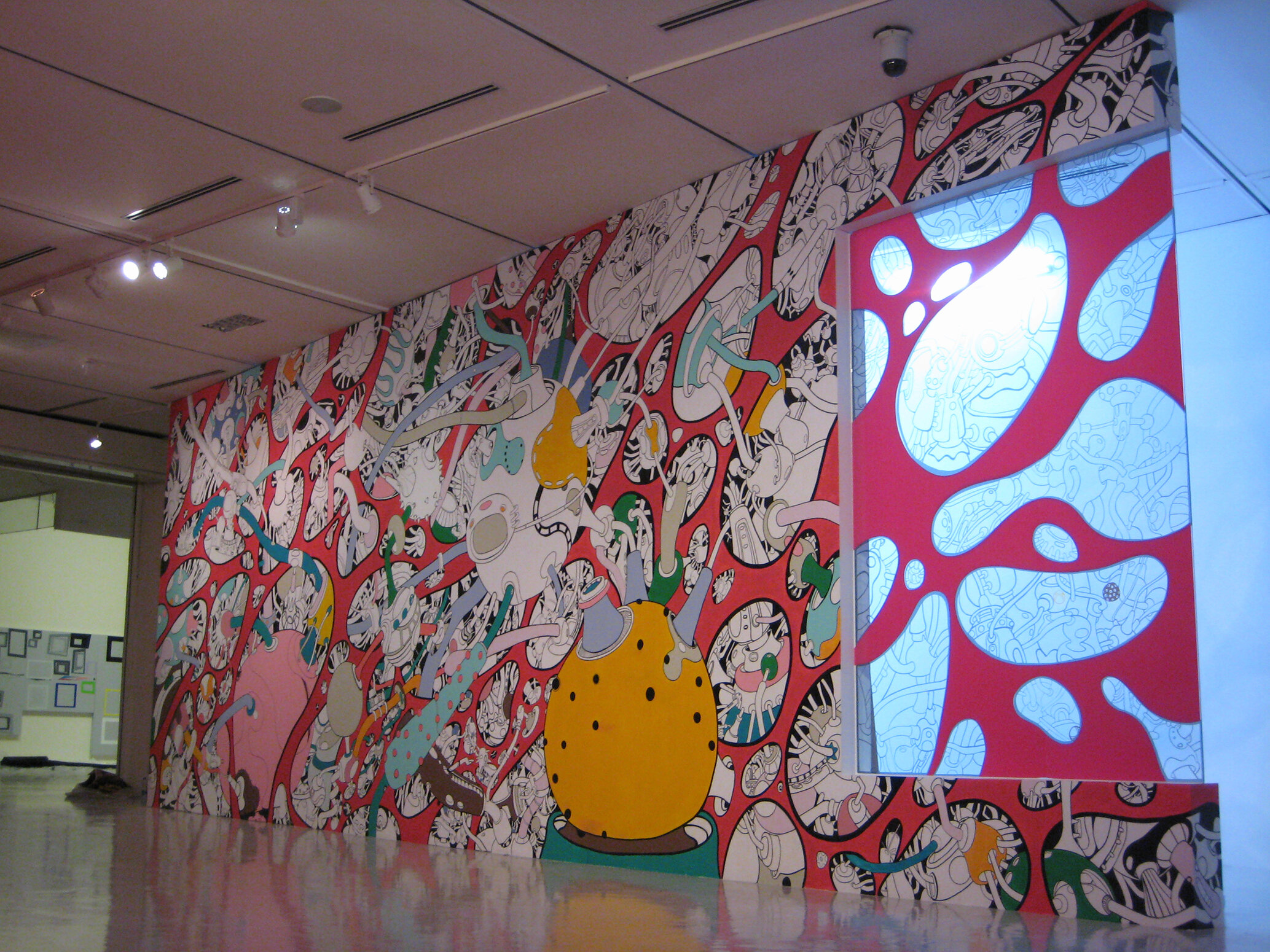 Device through the space1_ 1400 X 400cm Painting on the Wall 2007_1.jpg