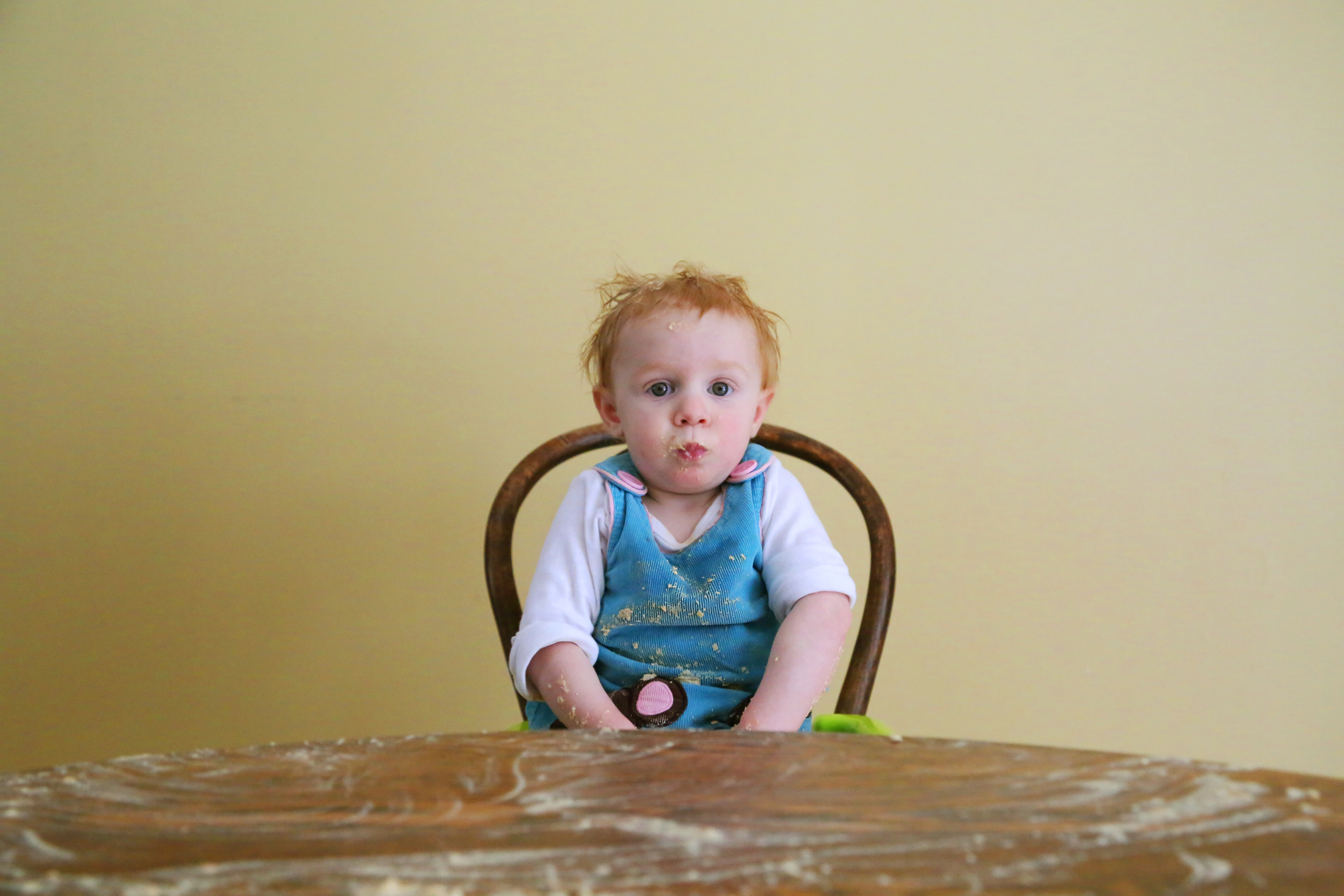 Days in our household since at least one child has shampooed him or herself with at least one meal: zero.