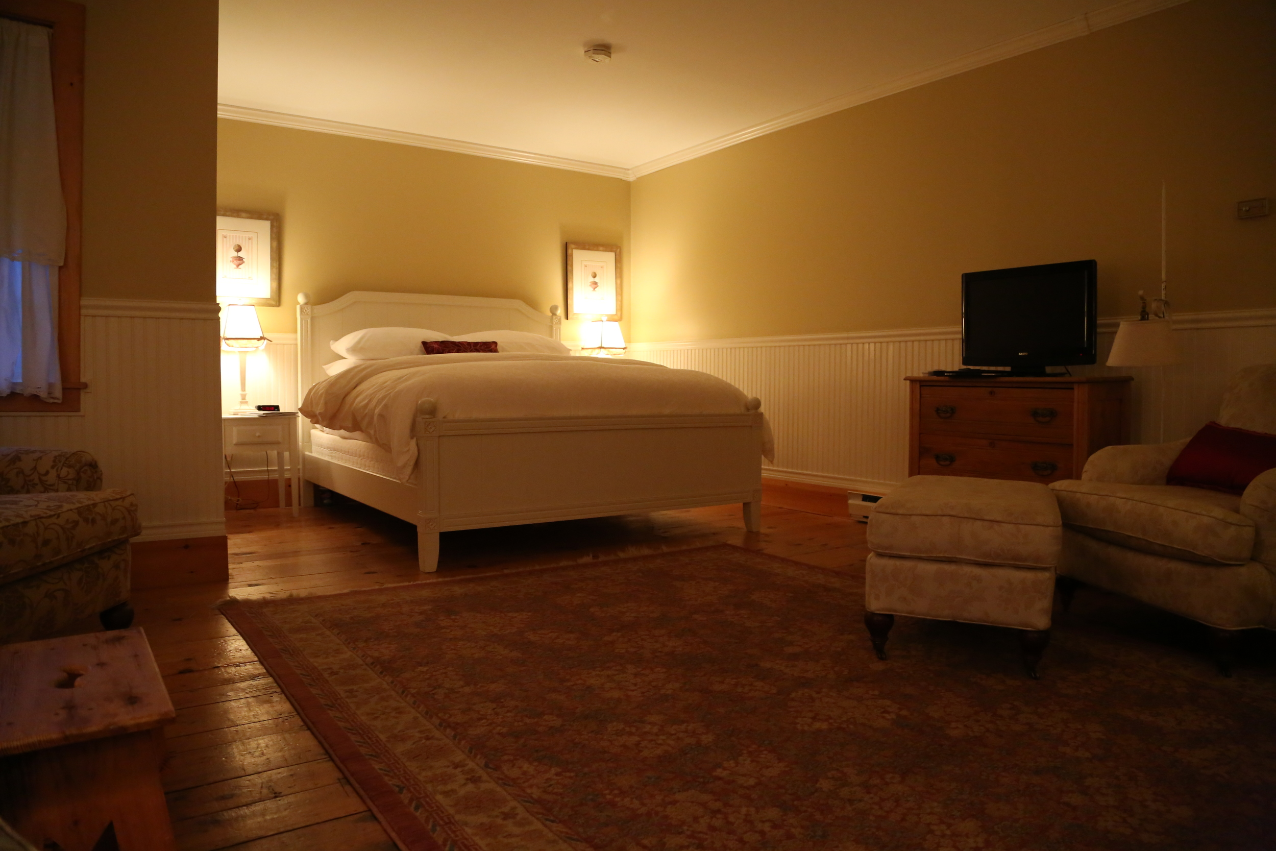 our room - there was a gas wood stove to the left