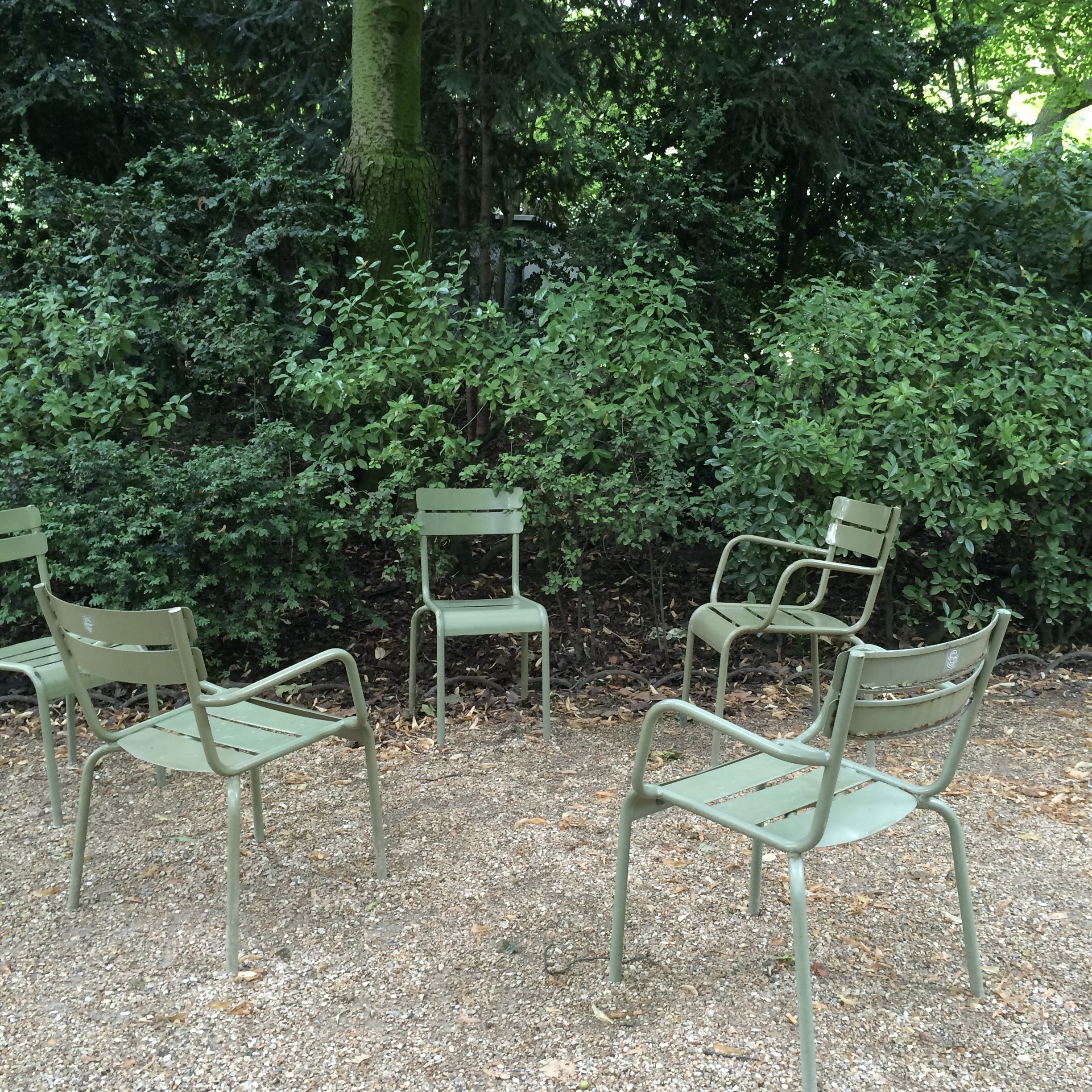 Green Chairs in the Luxembourg Gardens