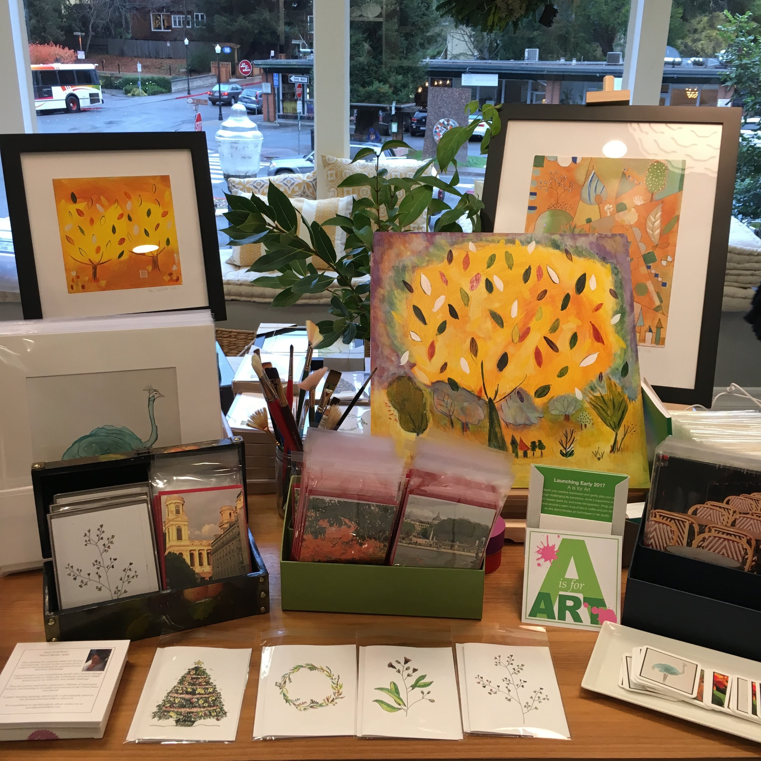 My art show table set-up.