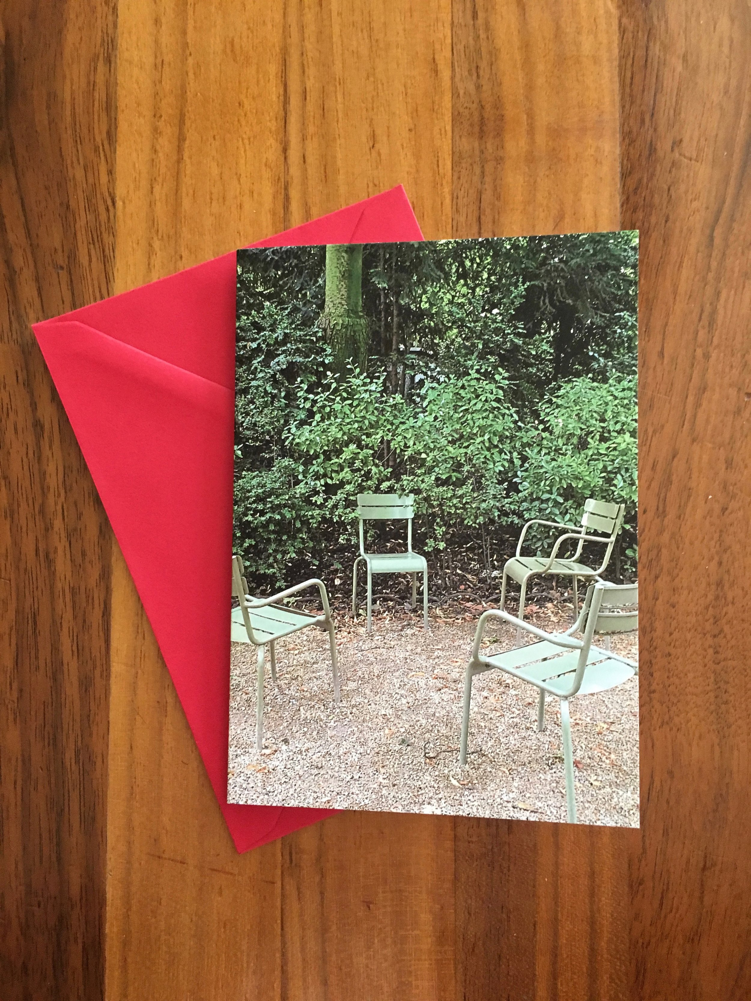 Green Chairs in the Luxembourg Gardens - Paris
