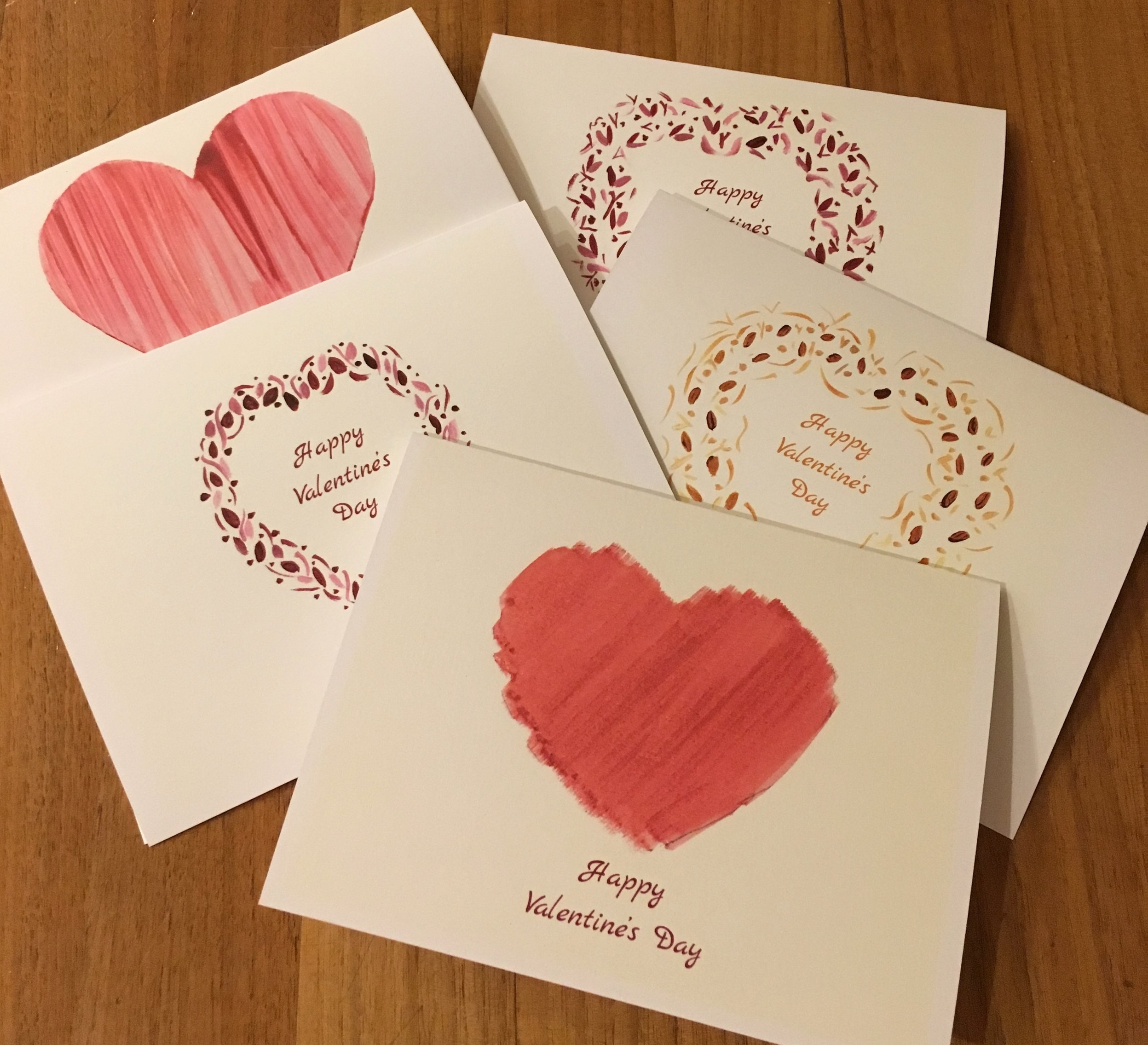 Boxed set of 5 Greeting Cards: Valentine's Collection