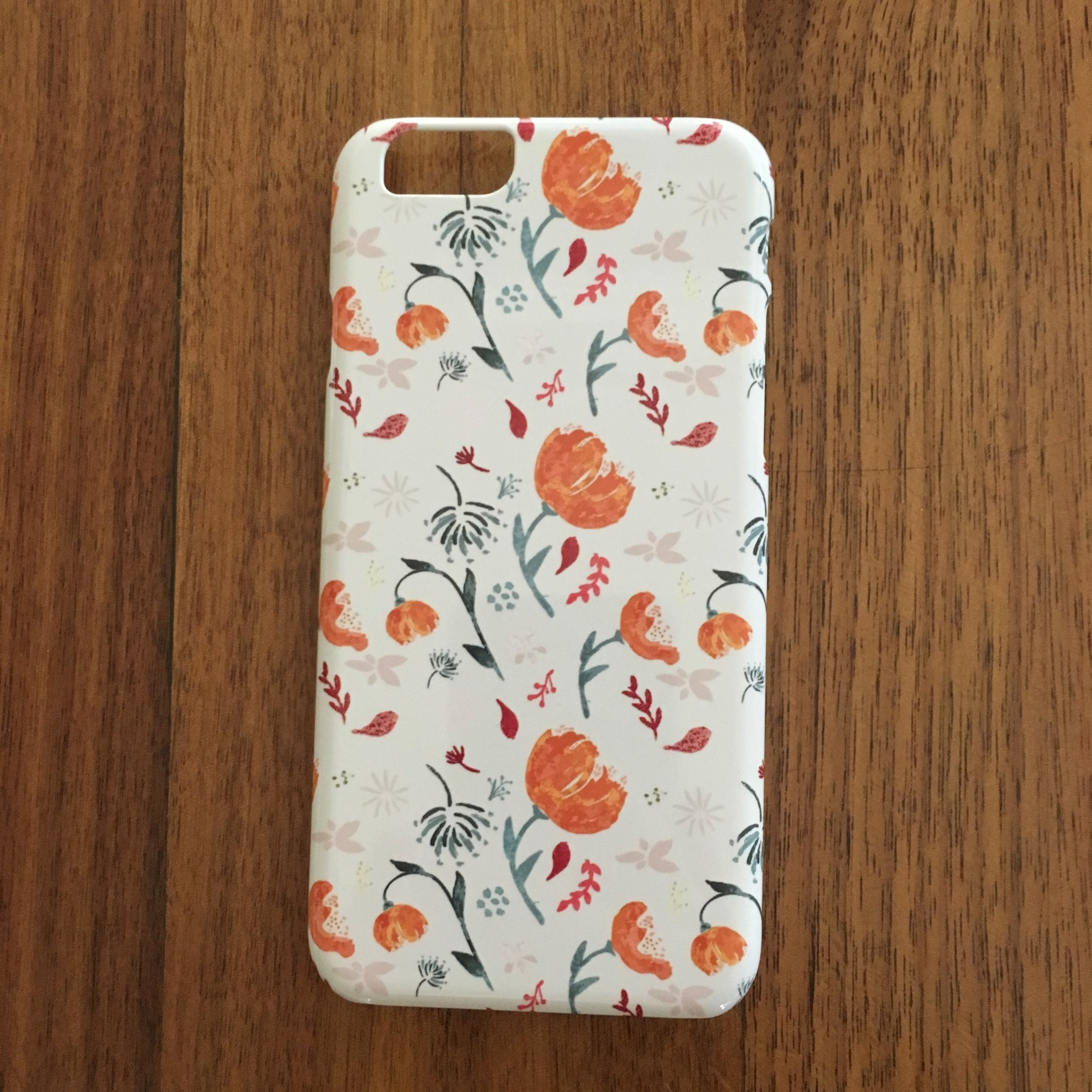 iPhone case - Watercolor flowers - orange