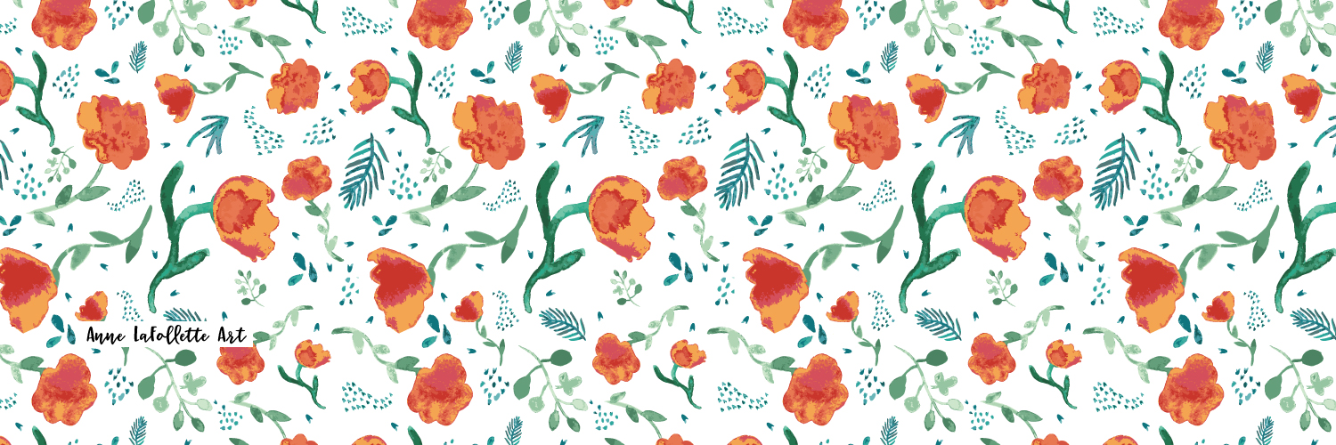 My top selling watercolor floral wrapping paper.