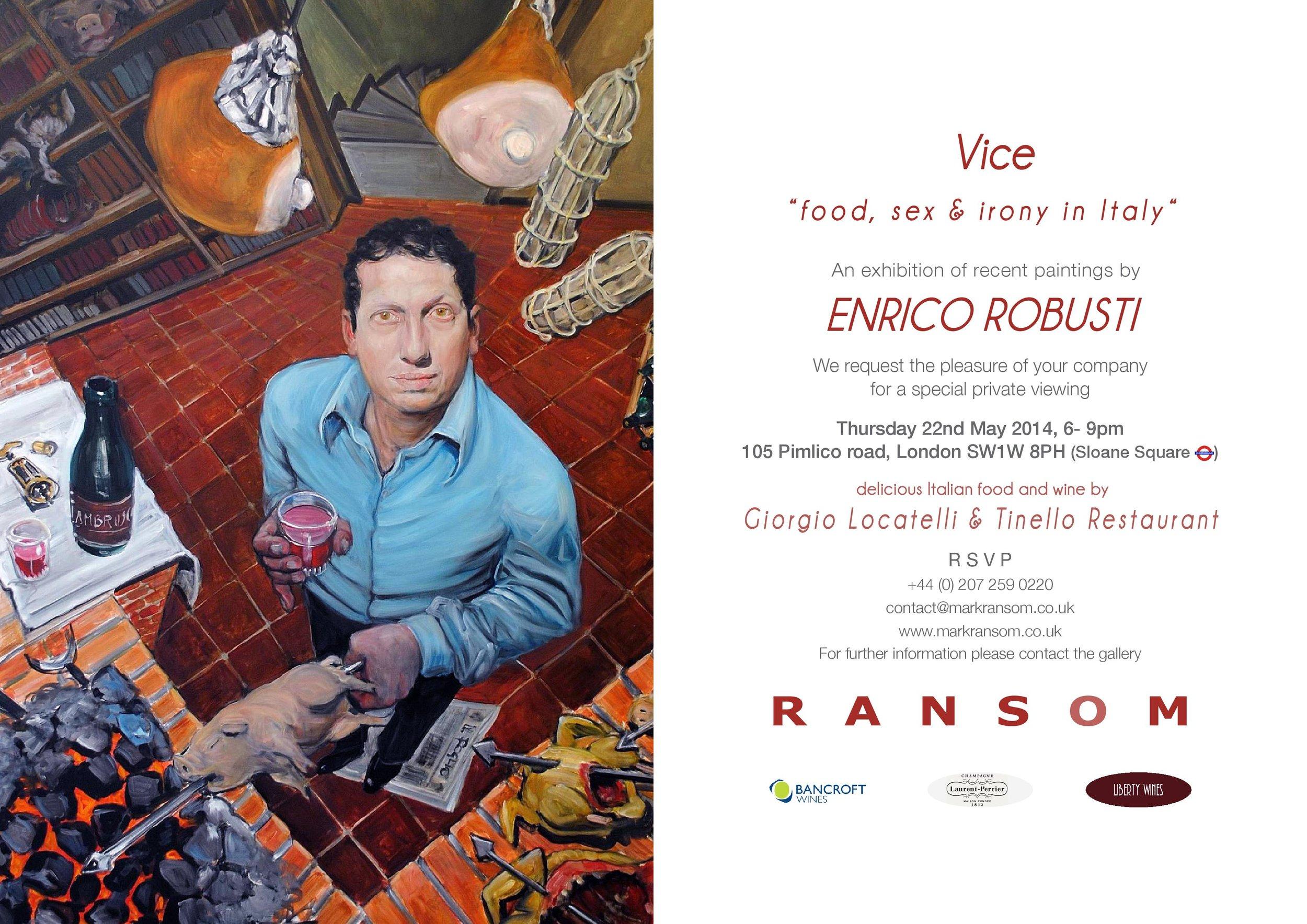 invitation-enrico-robusti-private-view-ransom-art-gallery